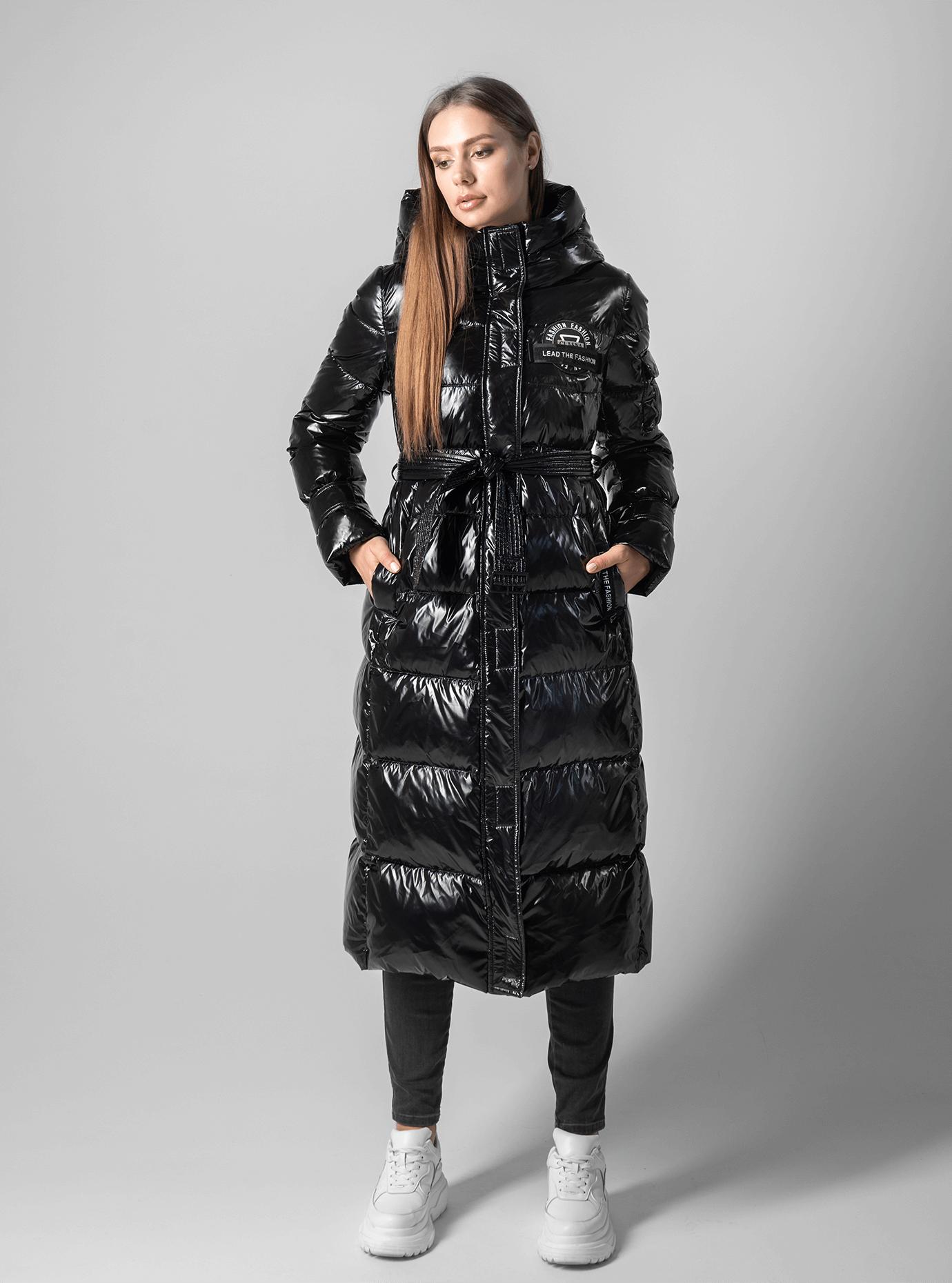 Пуховик женский с капюшоном Чёрный XL (01-9018): фото - Alster.ua