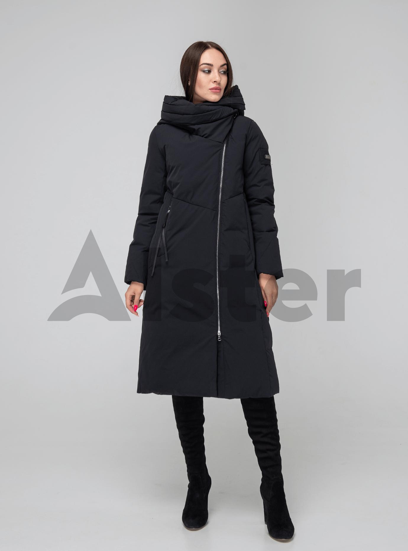 Пуховик женский с капюшоном Чёрный L (02-4584): фото - Alster.ua