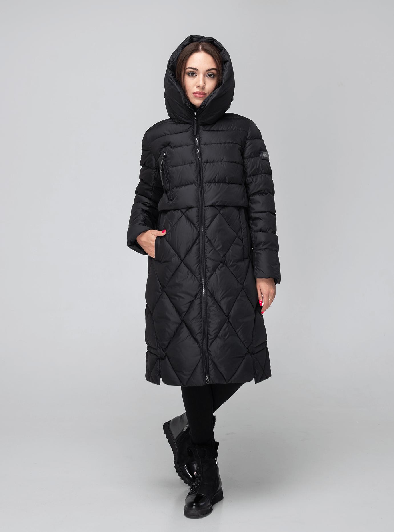 Куртка зимняя стёганая с капюшоном Чёрный S (02-190102): фото - Alster.ua