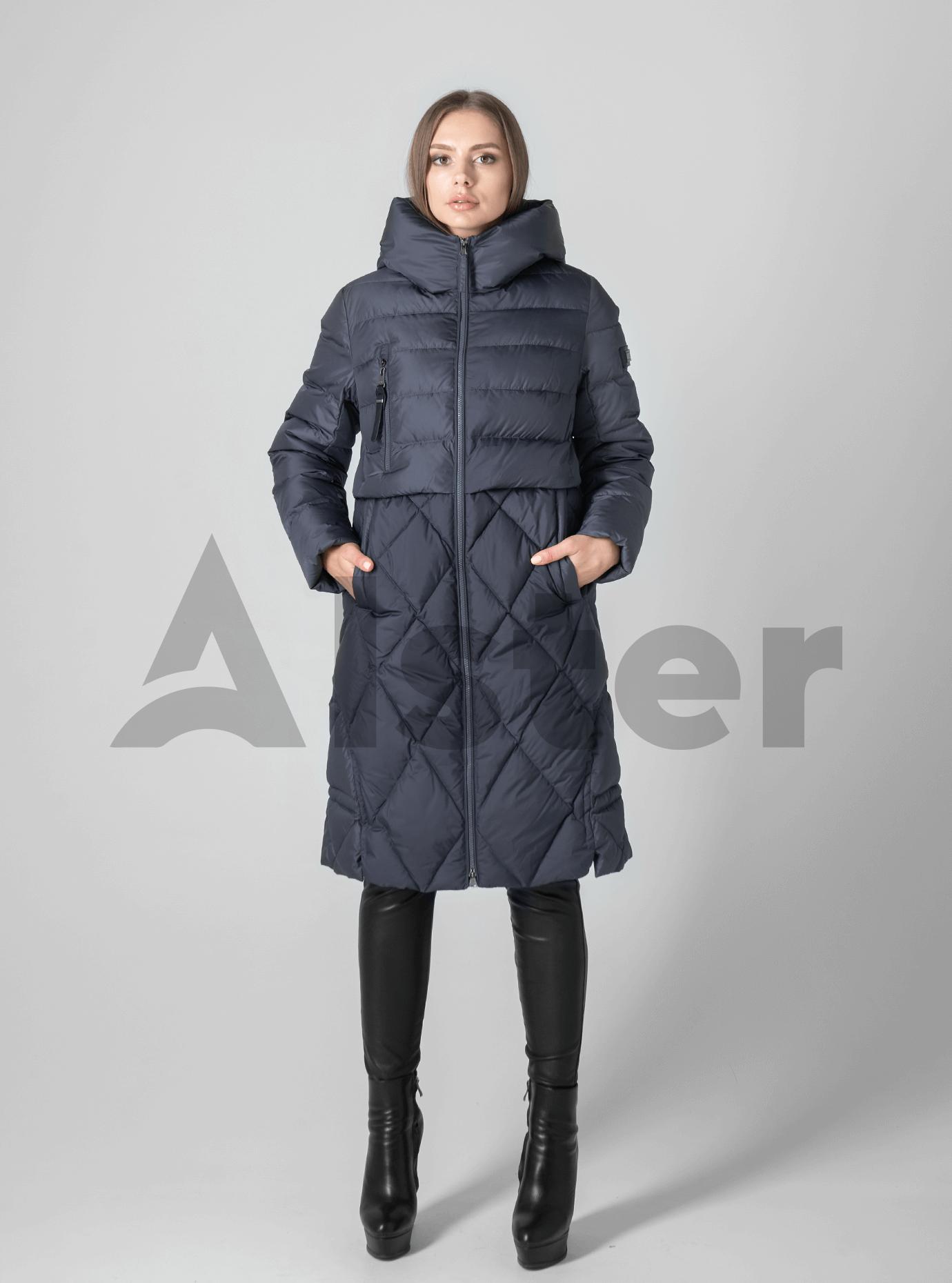 Куртка зимняя стёганая с капюшоном Графитовый 2XL (02-1901157): фото - Alster.ua