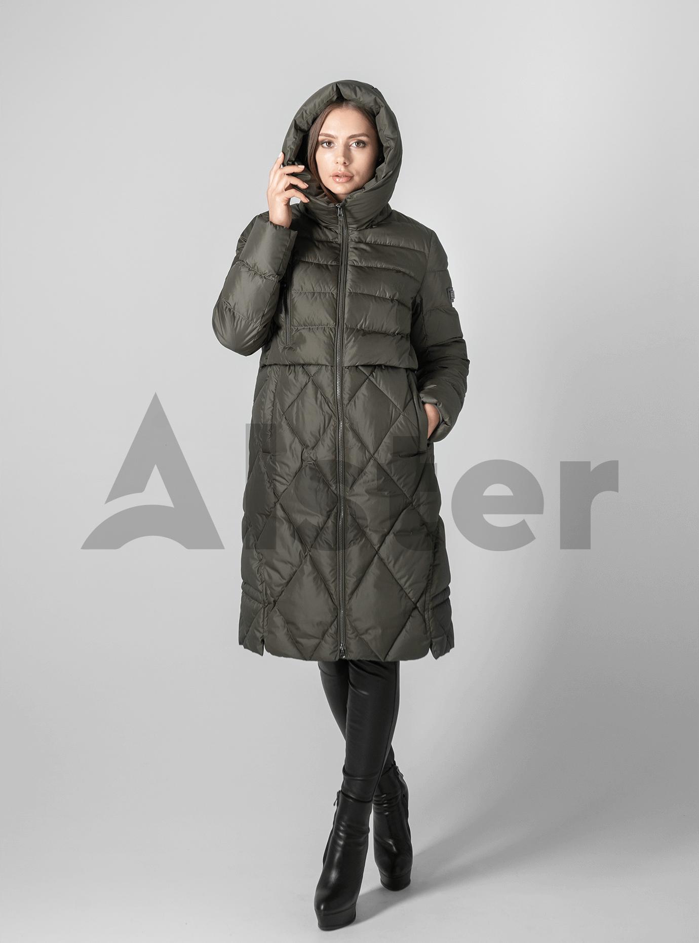 Куртка зимняя стёганая с капюшоном Хаки S (02-190104): фото - Alster.ua