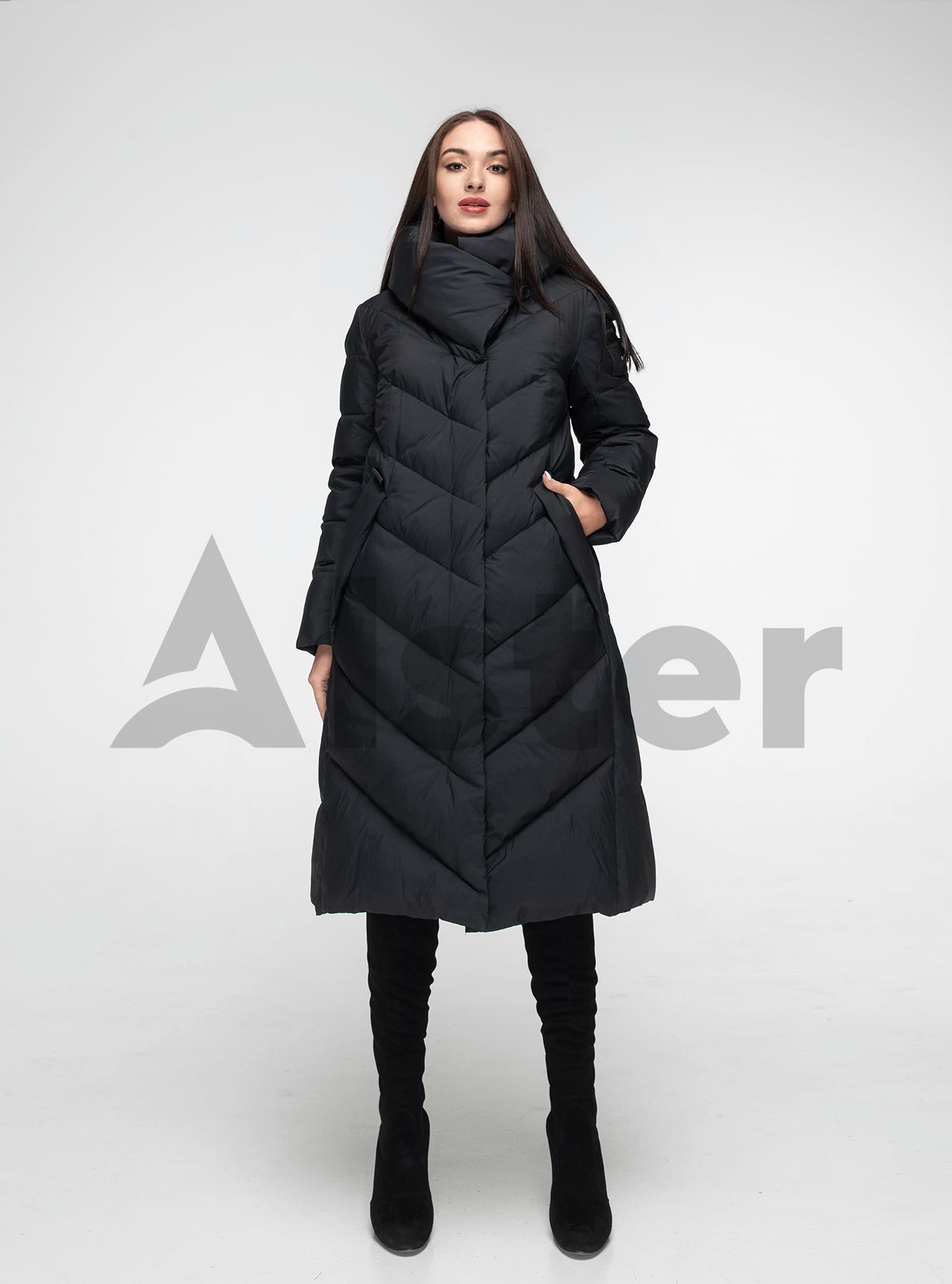 Пуховик женский с капюшоном Чёрный S (02-4600): фото - Alster.ua