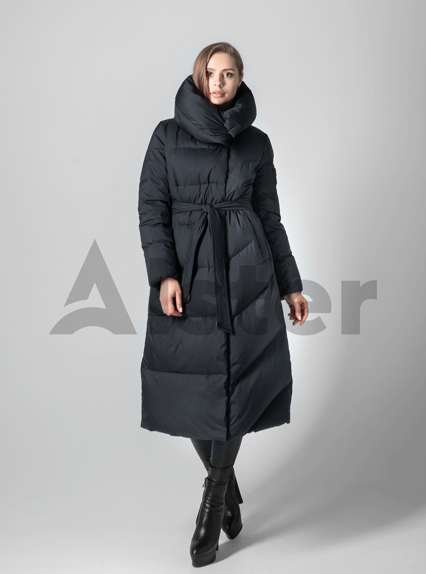 Пуховик женский с натуральным пухом Чёрный 2XL (02-4605): фото - Alster.ua