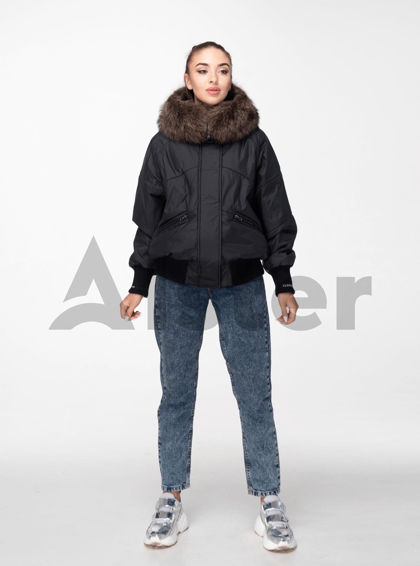 Зимняя женская куртка с мехом Чёрный M (02-190168): фото - Alster.ua