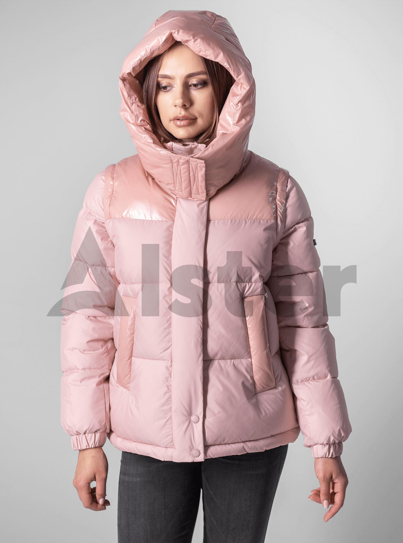 Куртка с лаковыми вставками Розовый M (02-190126): фото - Alster.ua
