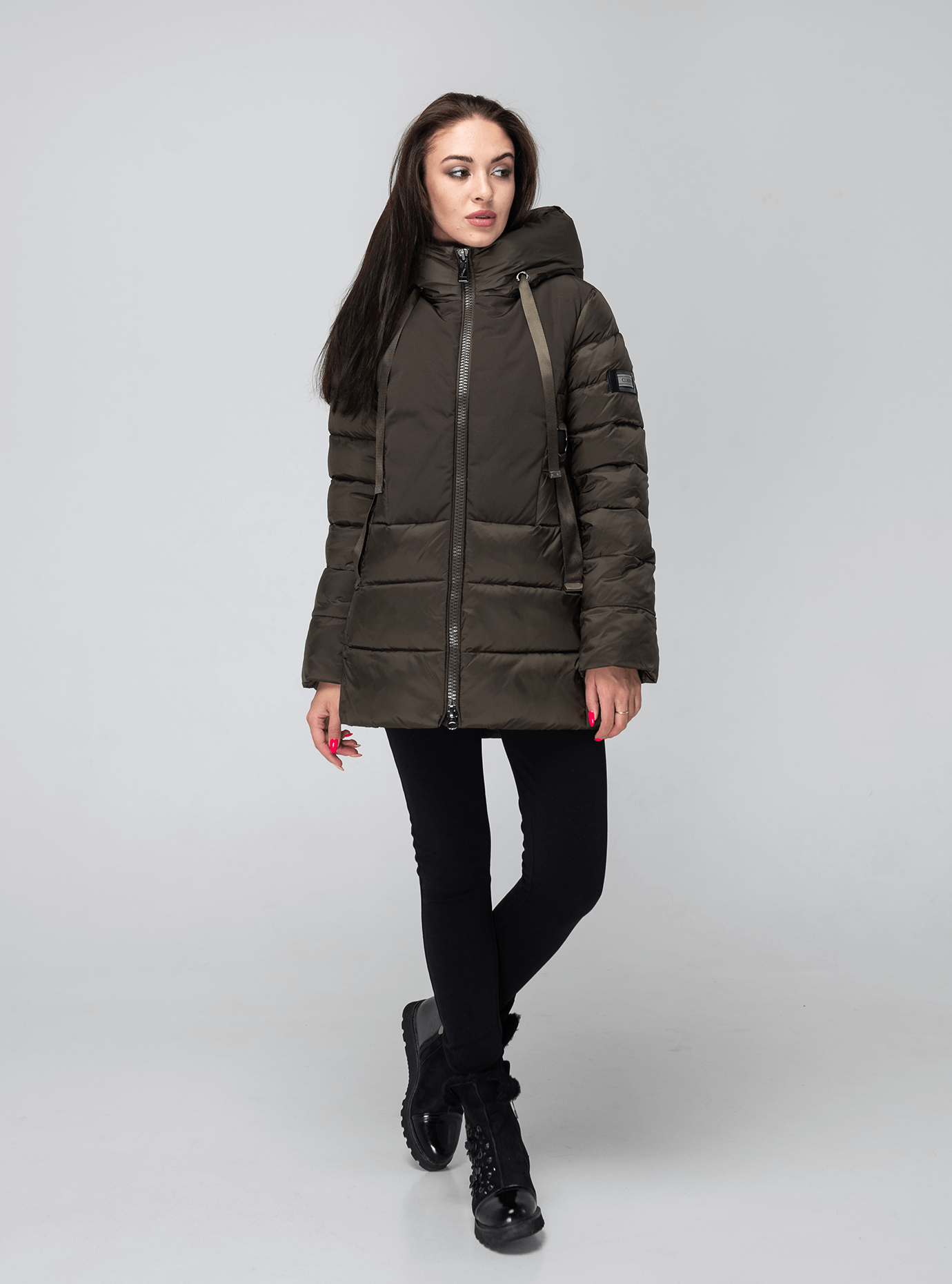 Зимняя женская куртка Хаки 2XL (02-190177): фото - Alster.ua
