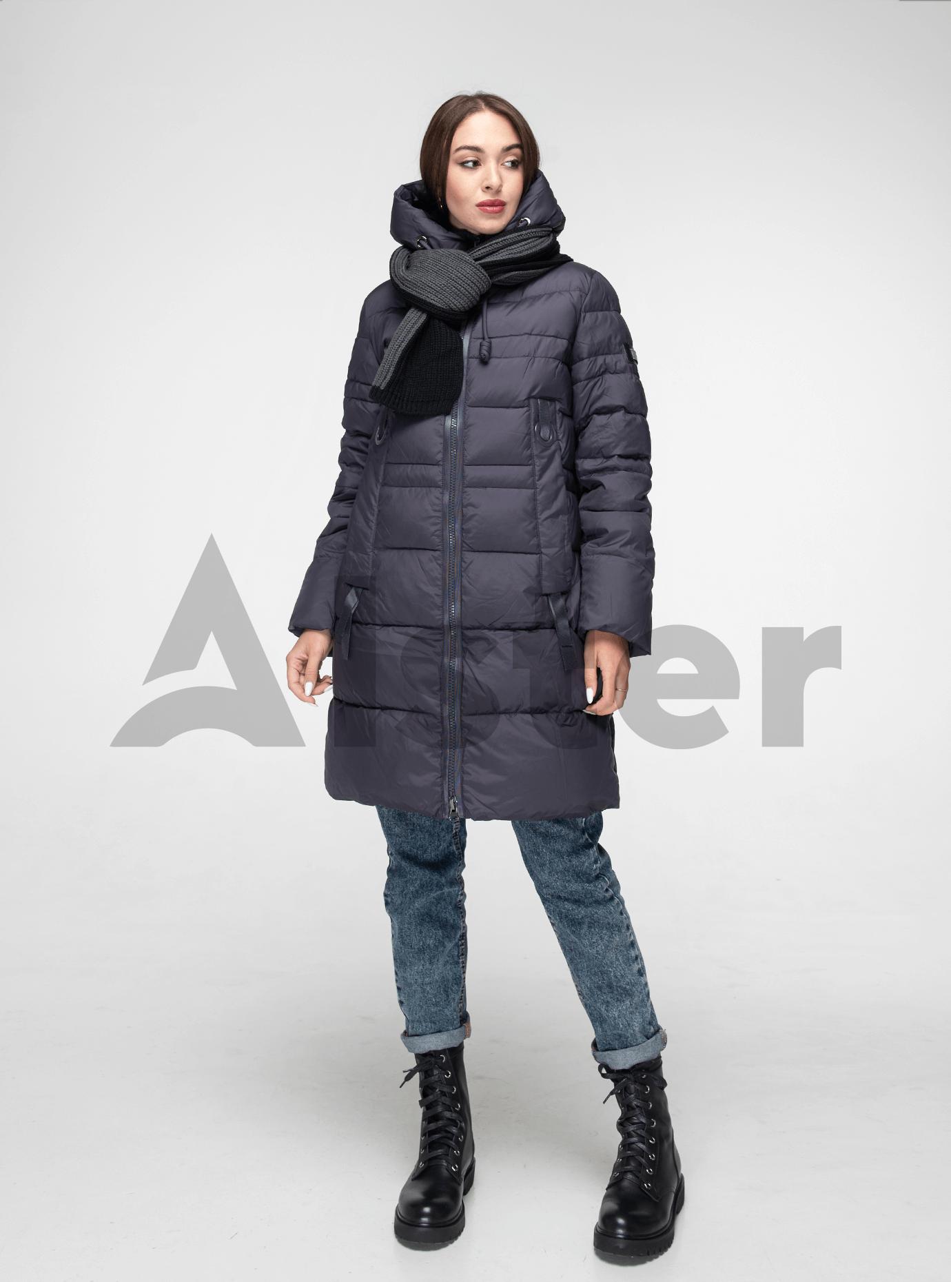 Женская зимняя куртка-снуд Графитовый XL (02-190187): фото - Alster.ua