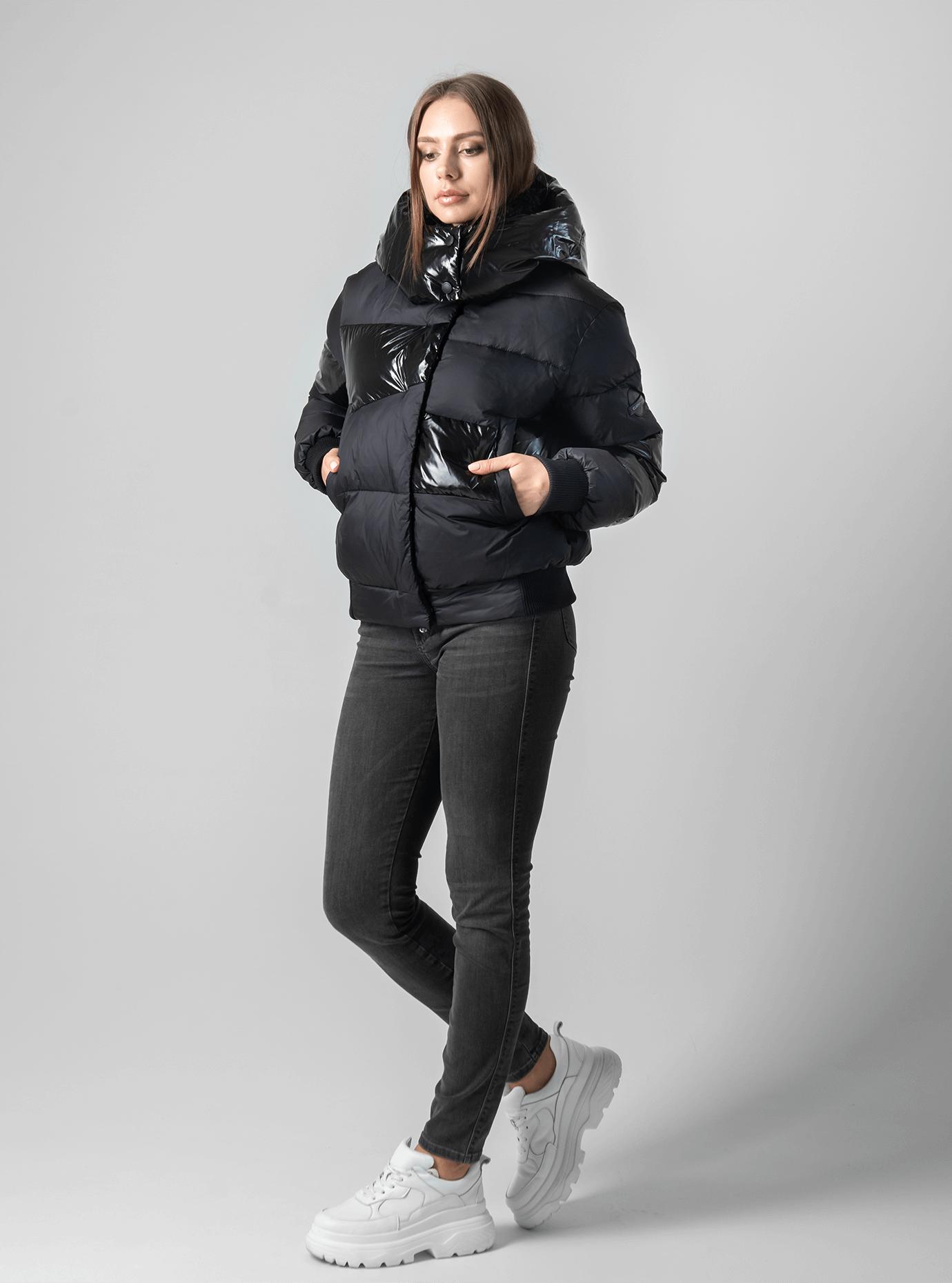 Куртка женская зимняя с наполнителем Чёрный XL (01-8999): фото - Alster.ua