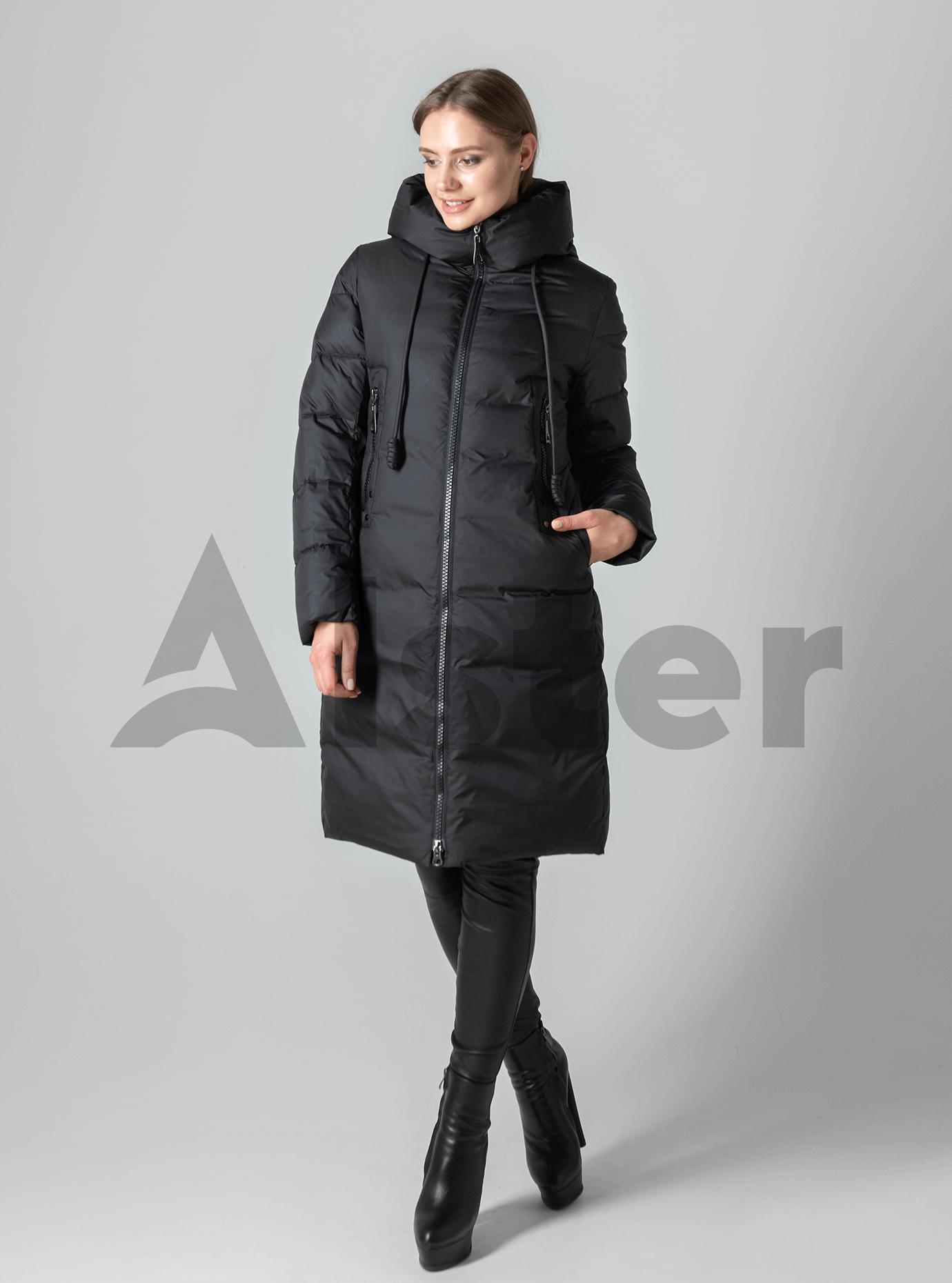 Классическая зимняя женская куртка Чёрный 2XL (02-190201): фото - Alster.ua