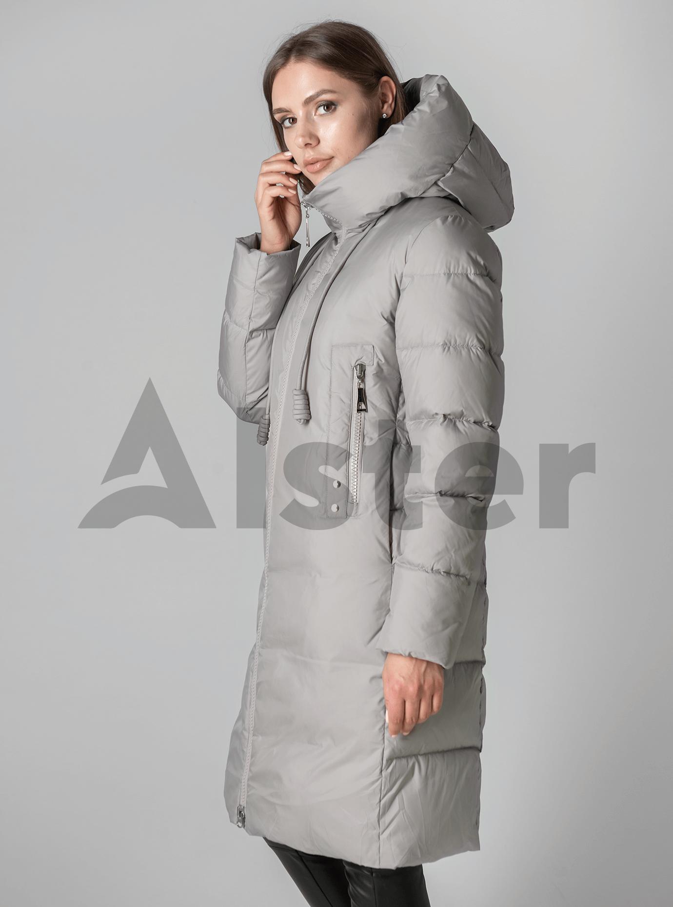 Классическая зимняя женская куртка Серый 2XL (02-190199): фото - Alster.ua
