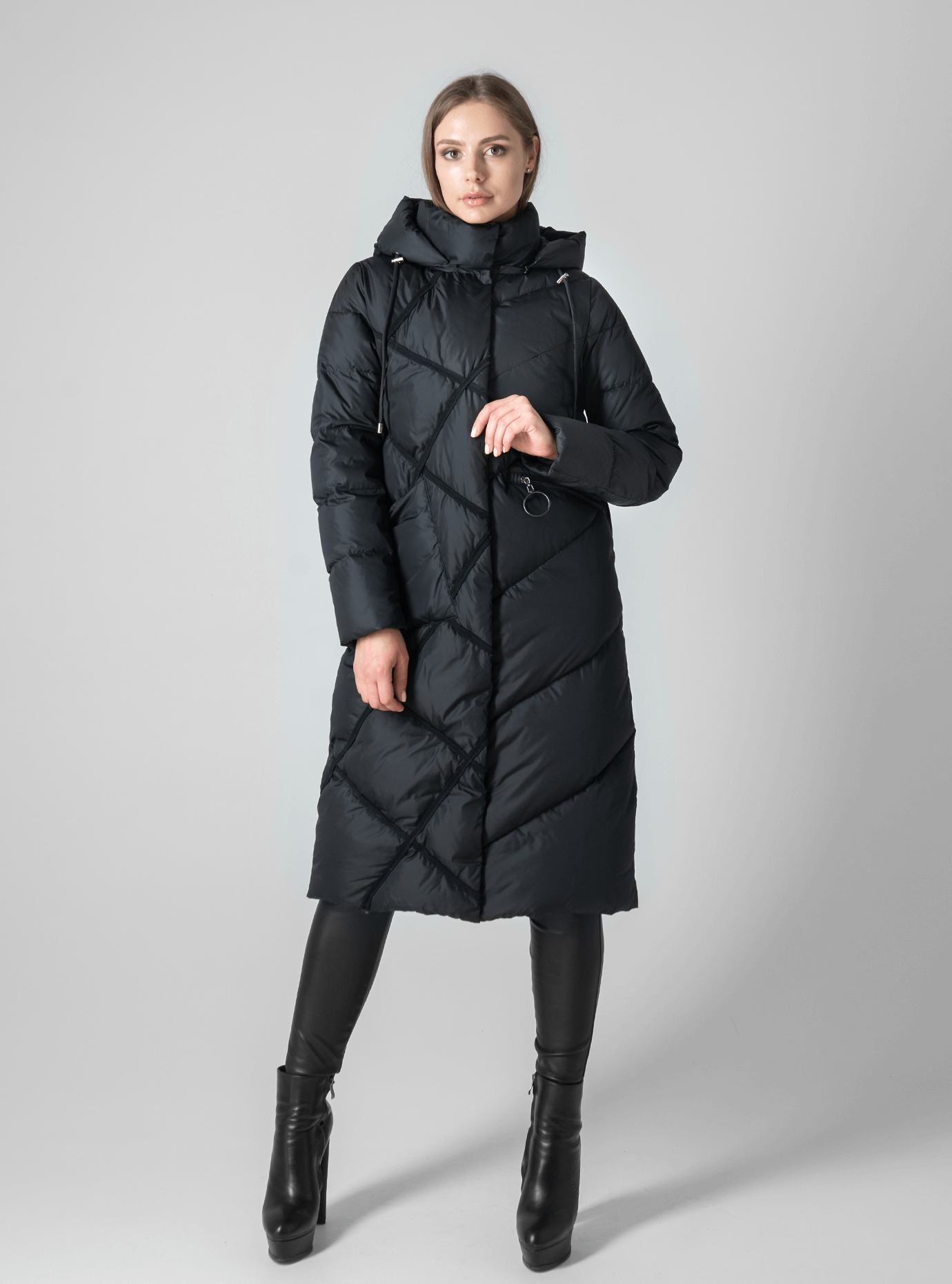 Зимняя женская куртка стёганая Чёрный 2XL (02-190205): фото - Alster.ua