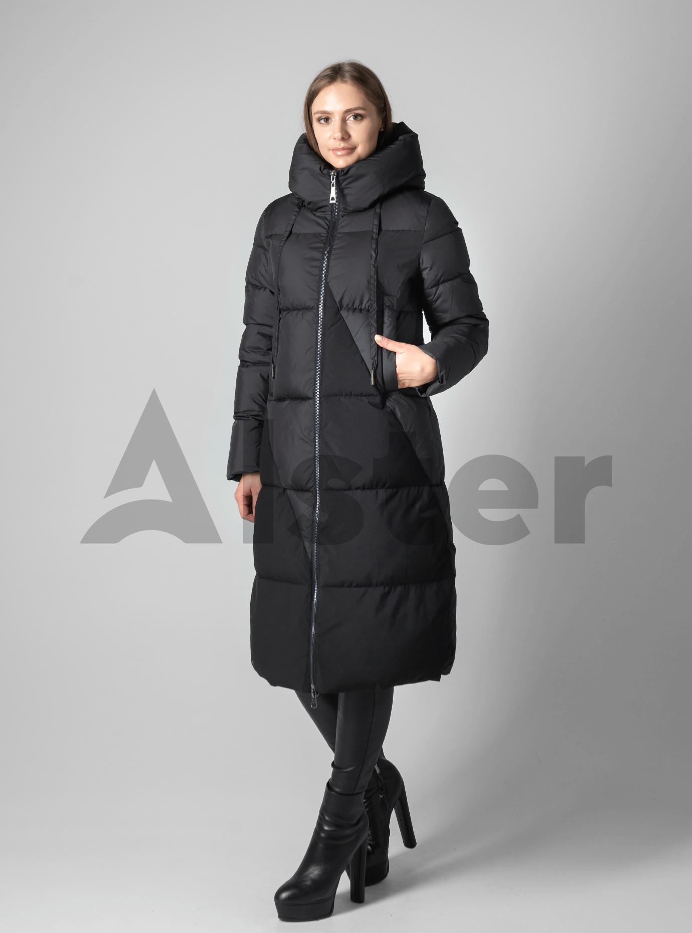 Классическая зимняя женская куртка Чёрный 2XL (02-190219): фото - Alster.ua