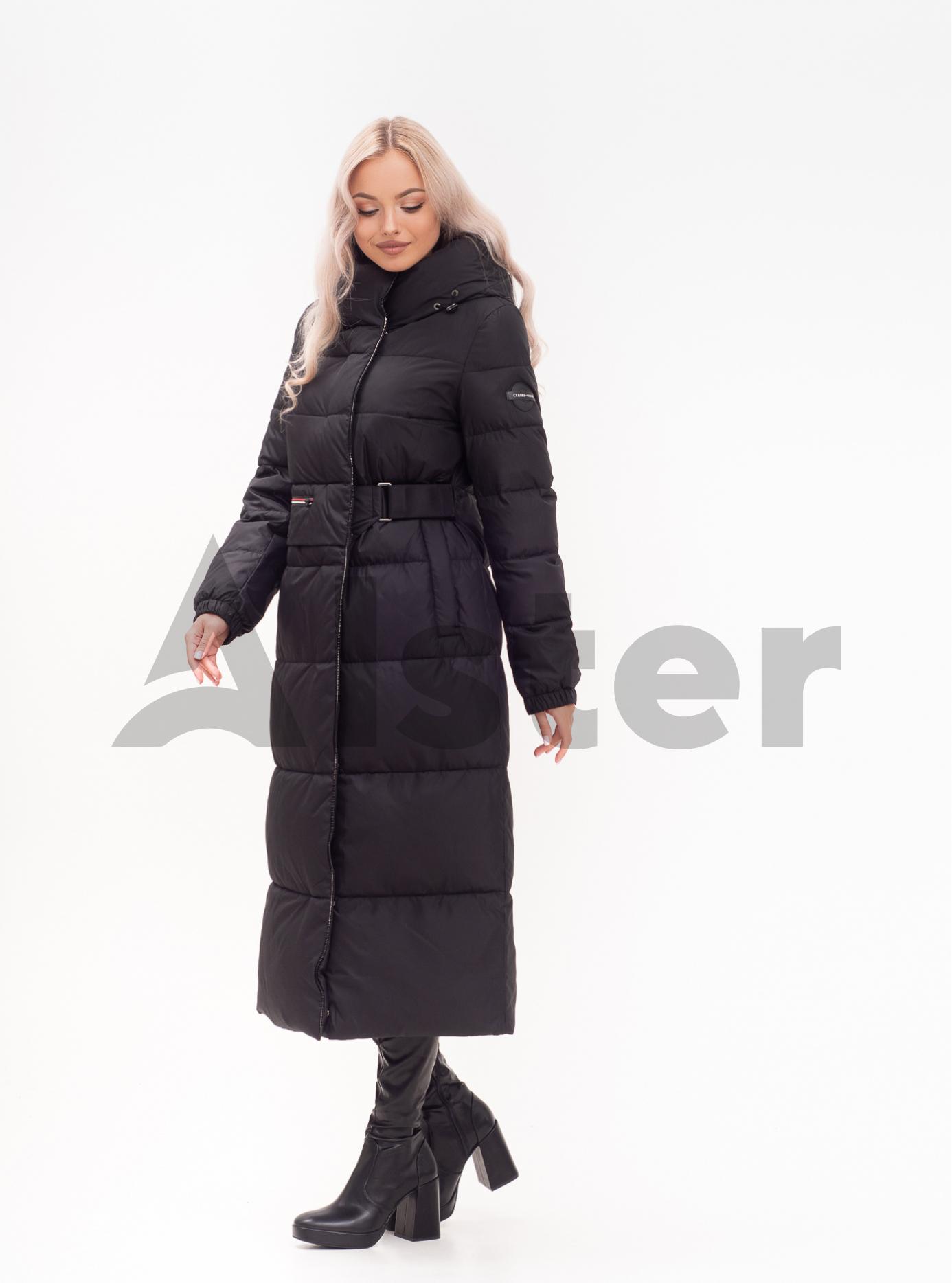 Куртка зимняя длинная приталенная Сливовый S (01-N200599): фото - Alster.ua