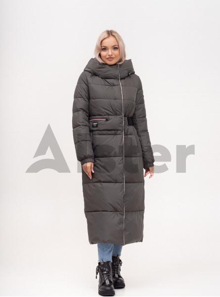 Куртка зимняя длинная приталенная