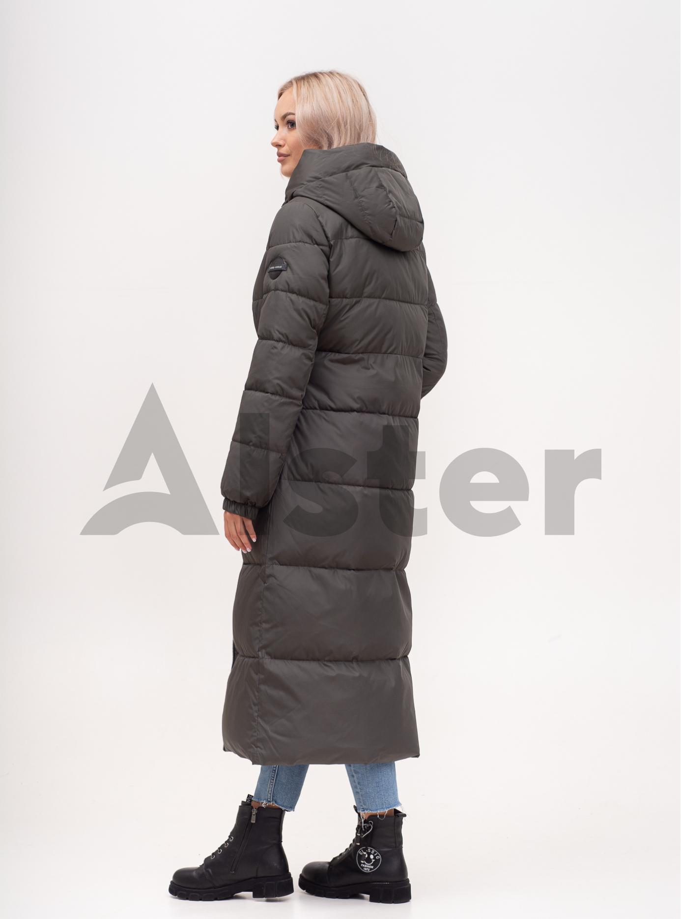 Куртка зимняя длинная приталенная Серо-зелёный S (01-N200594): фото - Alster.ua