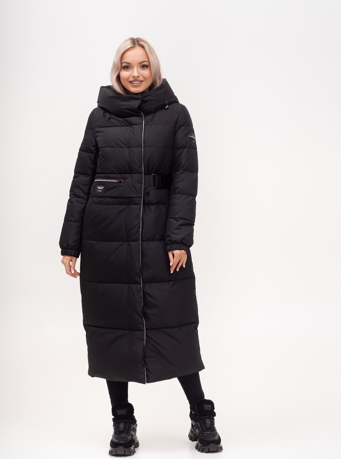 Куртка зимняя длинная приталенная Чёрный S (01-N200604): фото - Alster.ua