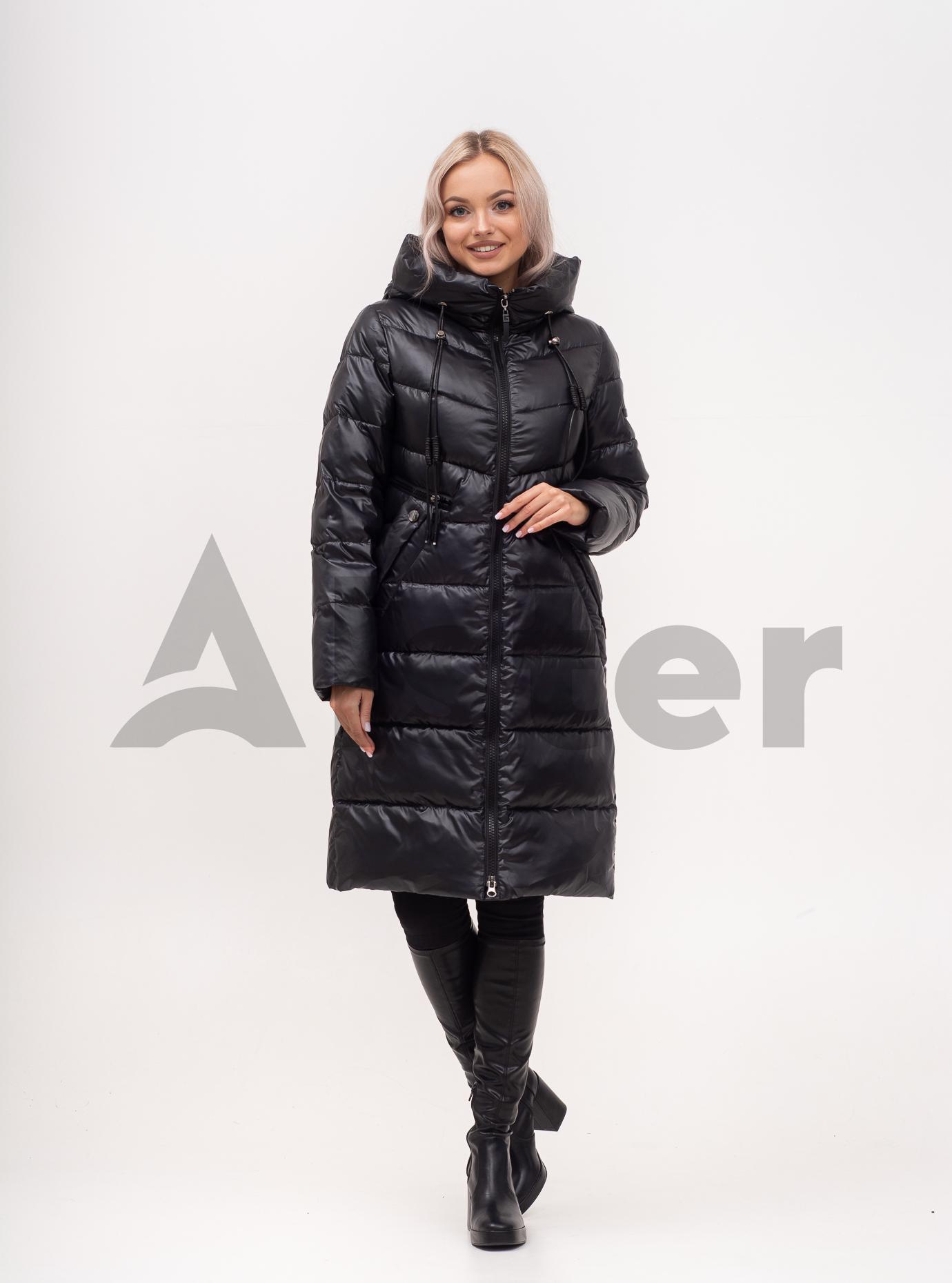 Куртка зимняя длинная стеганая с капюшоном Светло-бежевый S (02-N200489): фото - Alster.ua