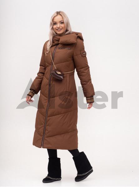 Куртка зимова жіноча довга з поясом