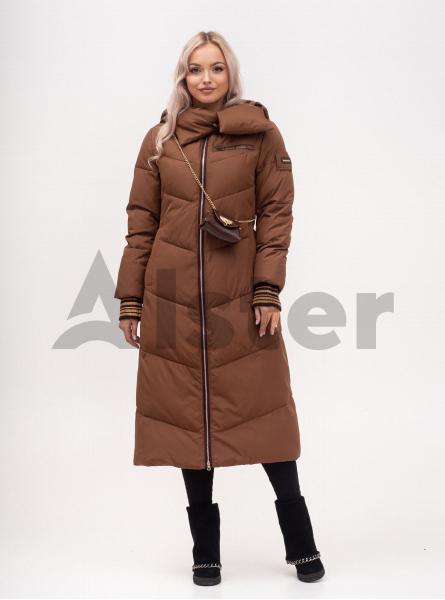 Куртка зимняя женская длинная с поясом