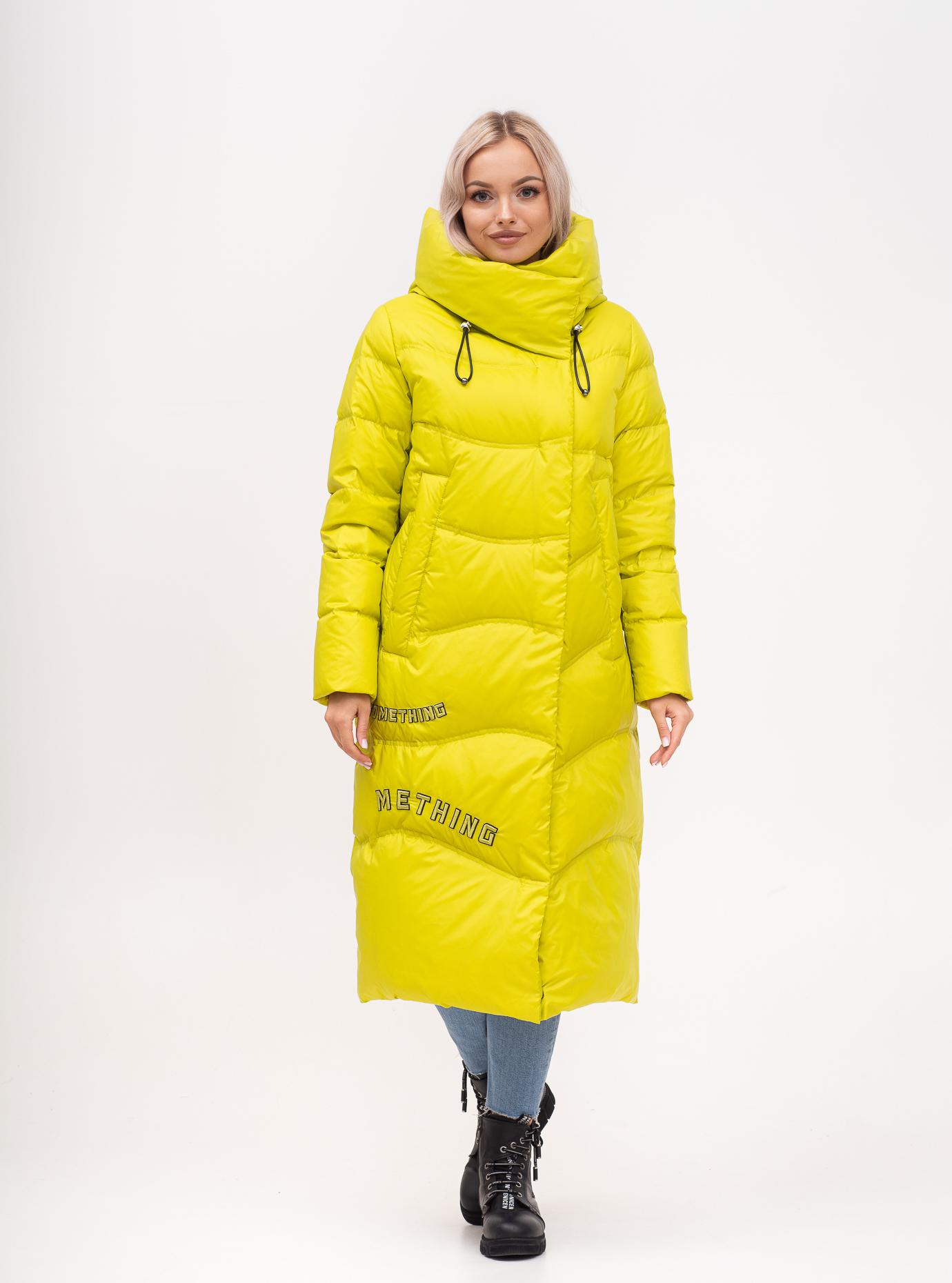 Пуховик зимний длинный прямой Жёлтый S (02-N200584): фото - Alster.ua