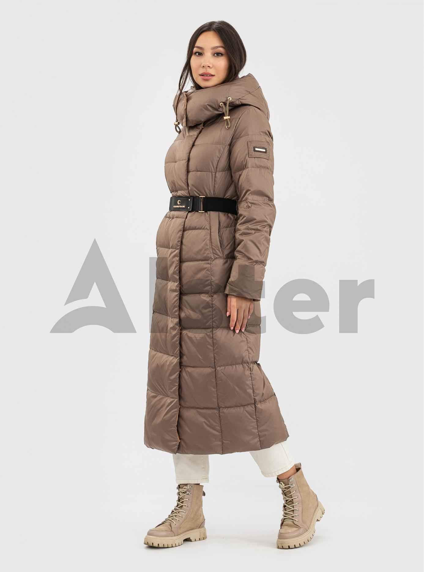 Пуховик зимний длинный с поясом CLASNA CW21D255DW Фисташковый S (01-N200539): фото - Alster.ua
