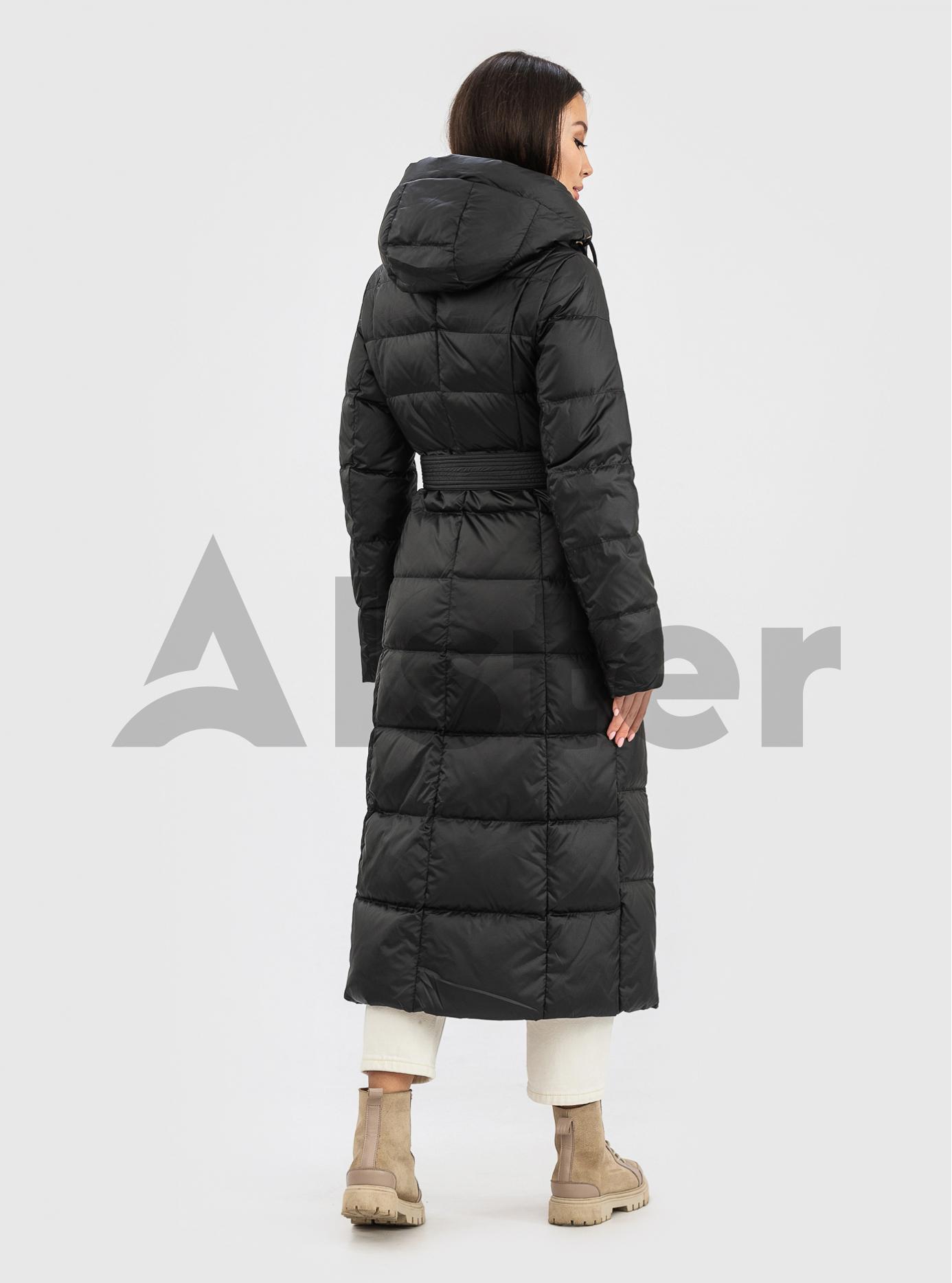 Пуховик зимний длинный с поясом CLASNA CW21D255DW Чёрный S (01-N200544): фото - Alster.ua