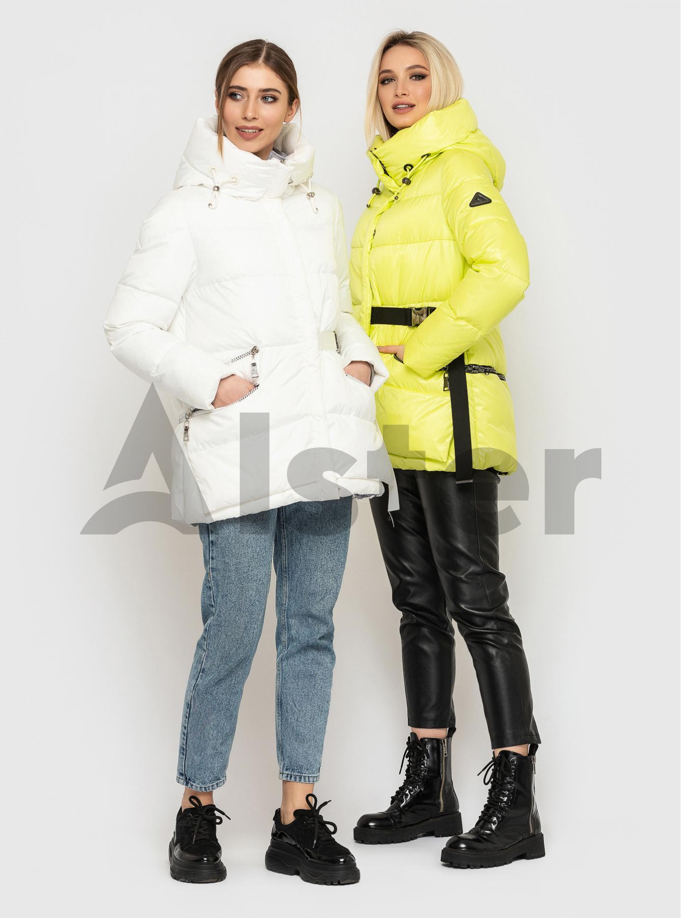 Жіноча зимова куртка із фастекс застібкою CLASNA Лимонний S (21D325CW-13): фото - Alster.ua