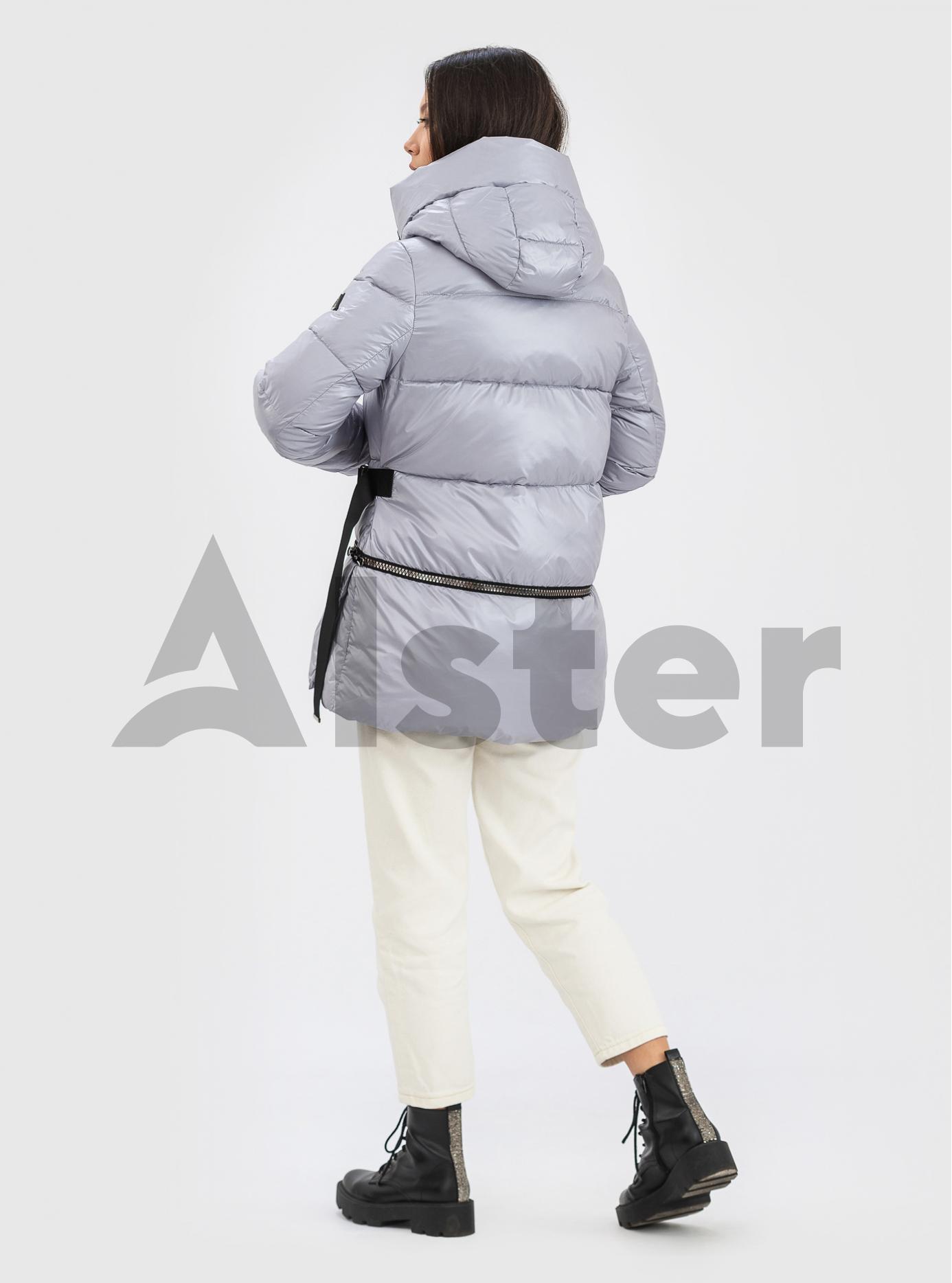 Жіноча зимова куртка із фастекс застібкою CLASNA Сірий M (21D325CW-06): фото - Alster.ua