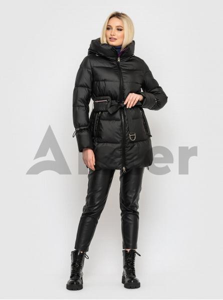 Зимовий жіночий пуховик з поясною сумкою CLASNA