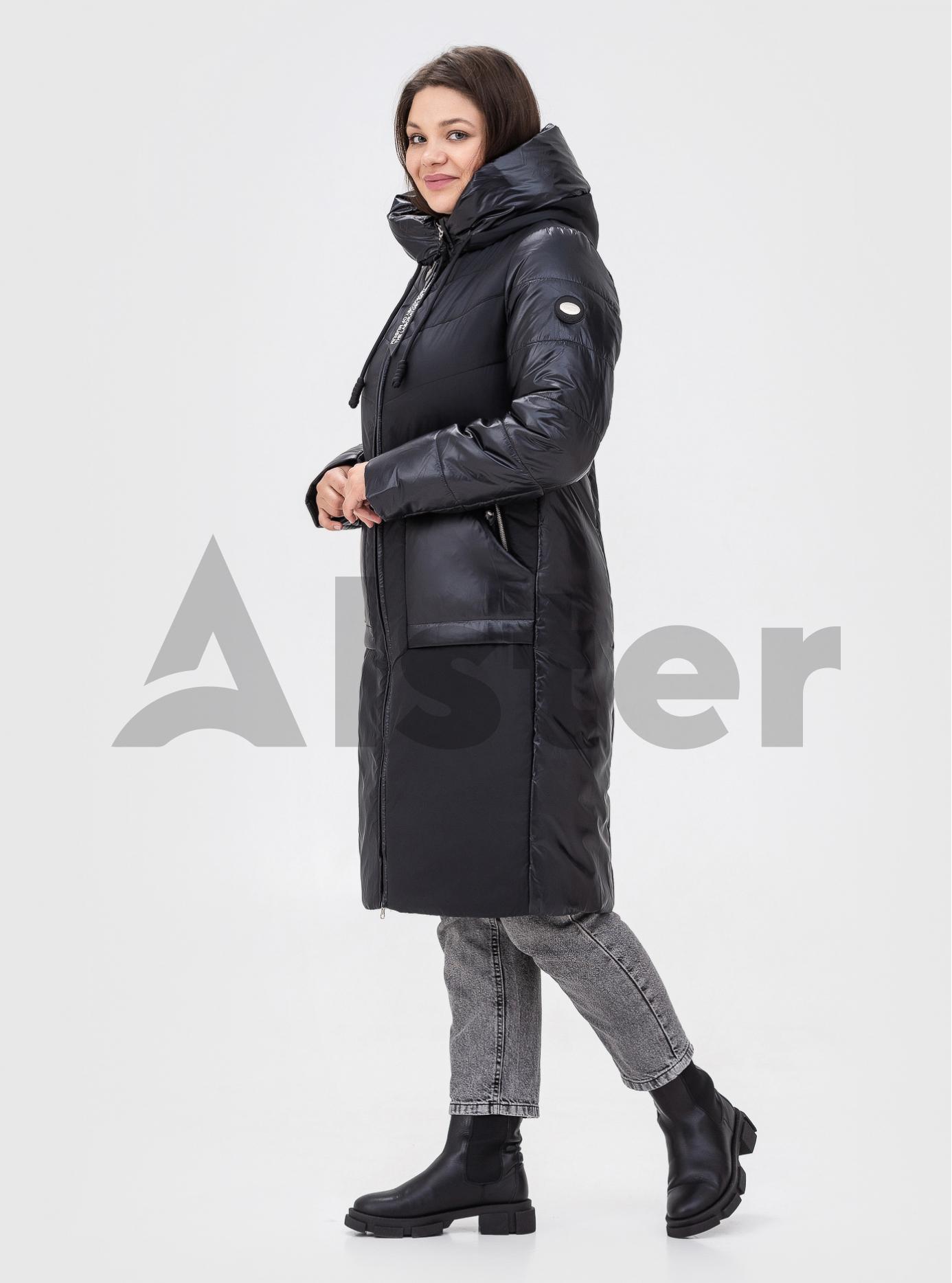 Зимове пальто великих розмірів DEIFY Чорний 2XL (DF21-817-02): фото - Alster.ua