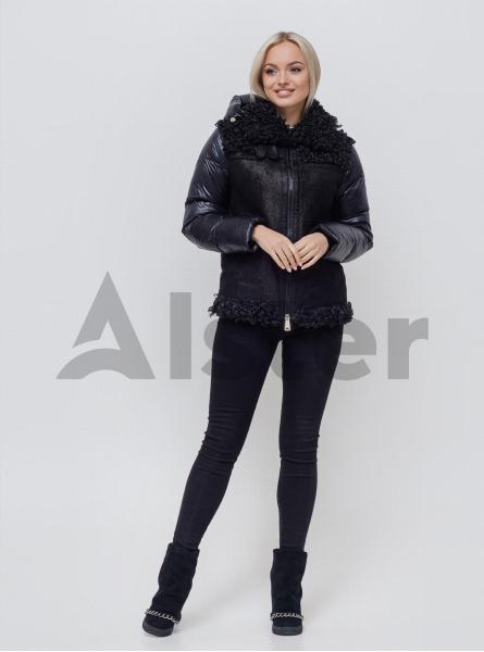 Куртка зимняя короткая со съемным капюшоном
