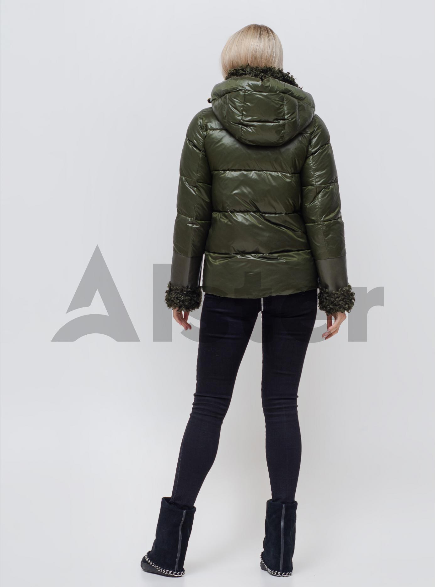 Куртка зимняя короткая со съемным капюшоном Хаки 46 (06-KL201034): фото - Alster.ua