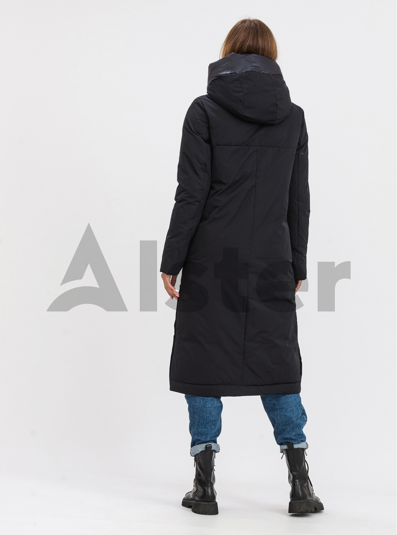 Жіноча довга куртка FineBabyCat Тёмно-синий M (21-565-07): фото - Alster.ua