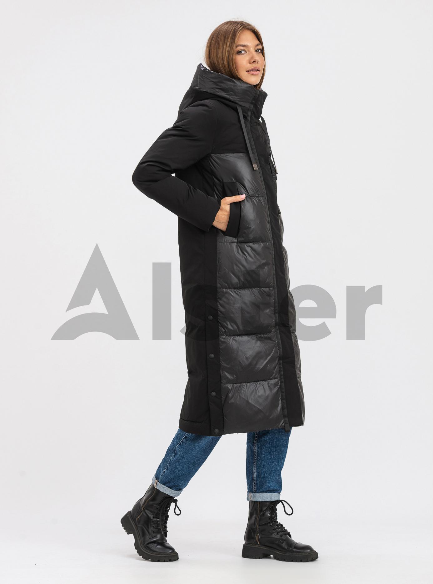 Жіноча довга куртка FineBabyCat Чорний M (21-565-02): фото - Alster.ua