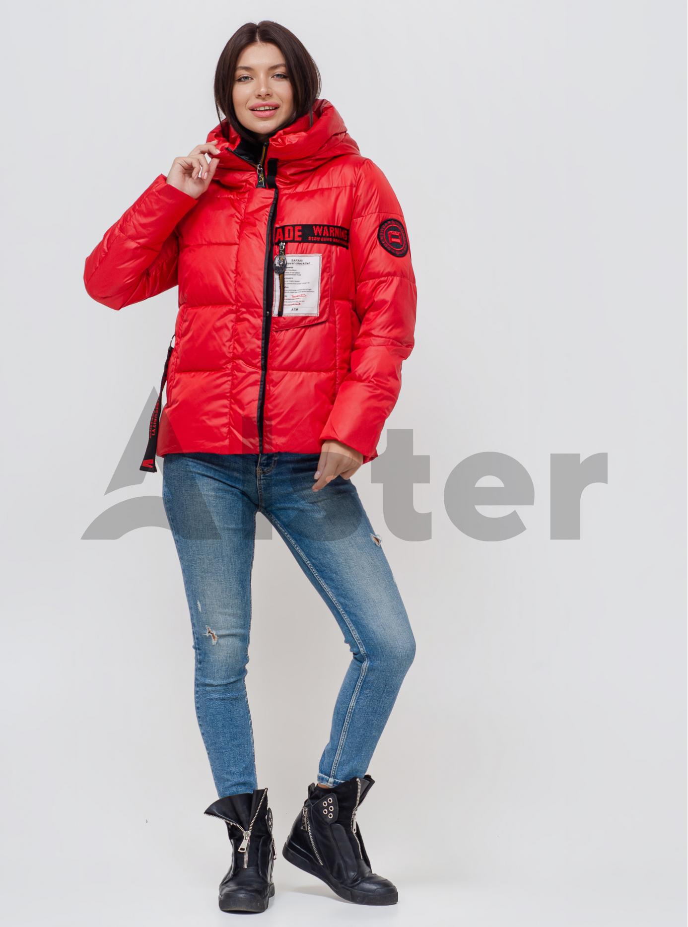 Зимняя женская куртка с капюшоном Красный XL (07-VP201033): фото - Alster.ua