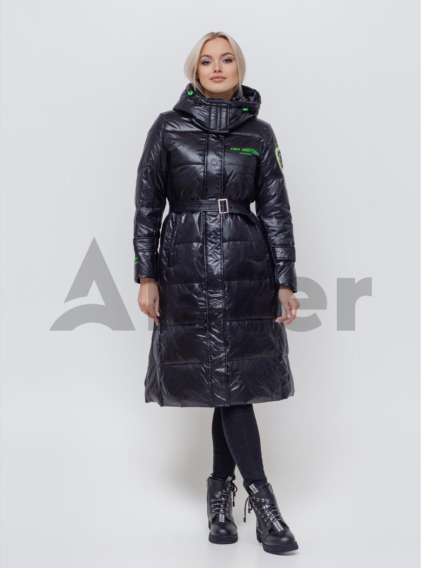 Пуховик женский Чёрный M (06-KL201210): фото - Alster.ua