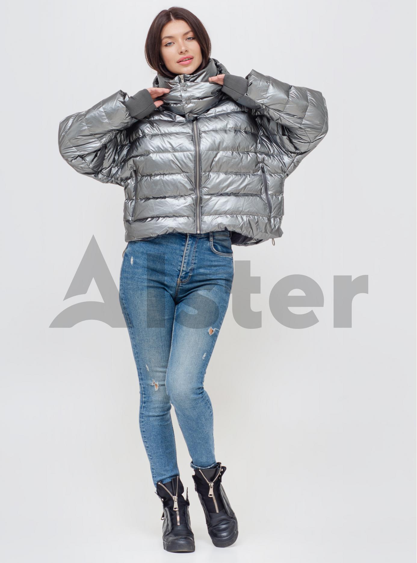 Пуховик жіночий Срібло S (06-KL201217): фото - Alster.ua