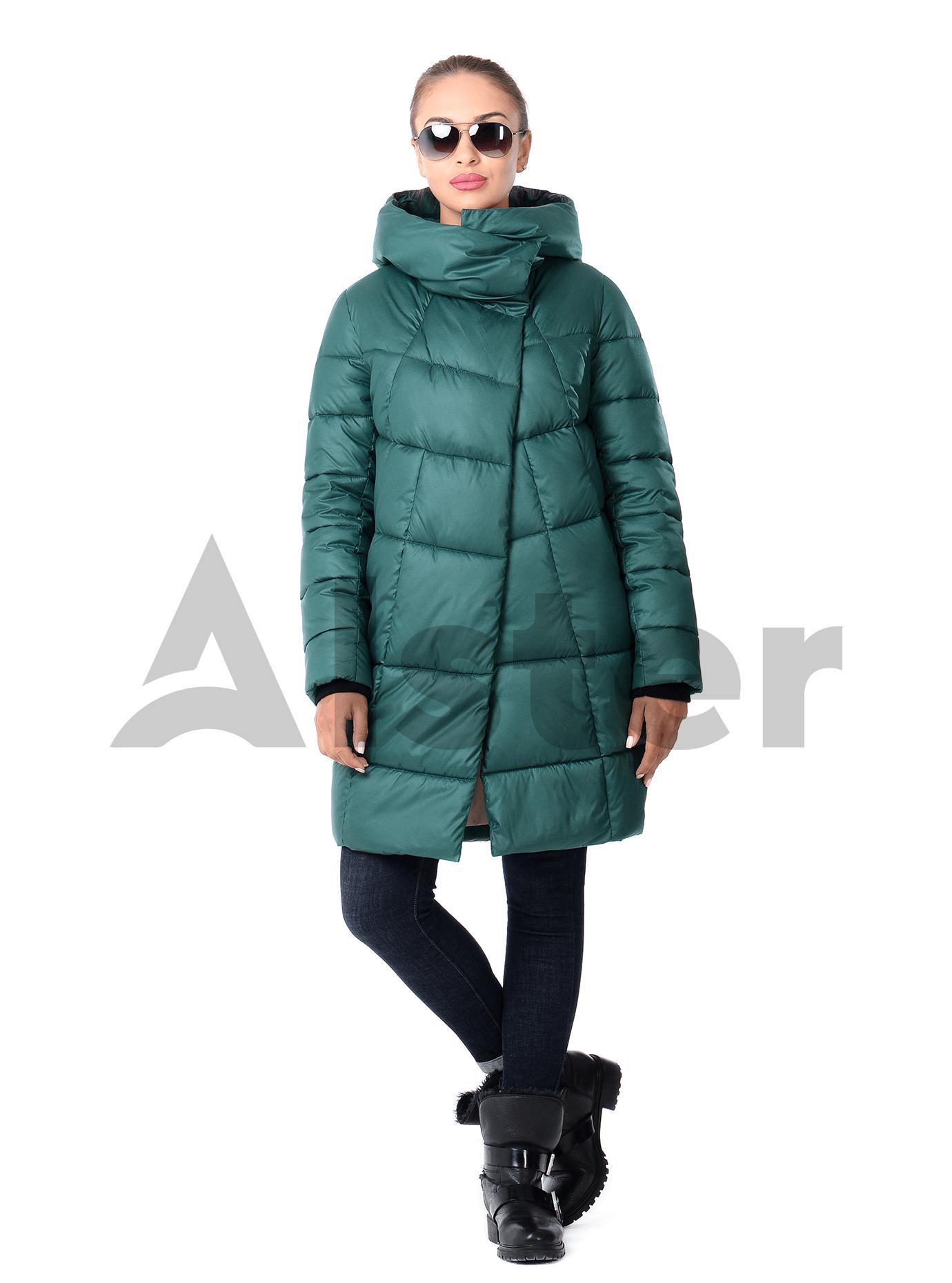 Женская зимняя куртка спортивный стиль Синий 42 (02-KT190531): фото - Alster.ua