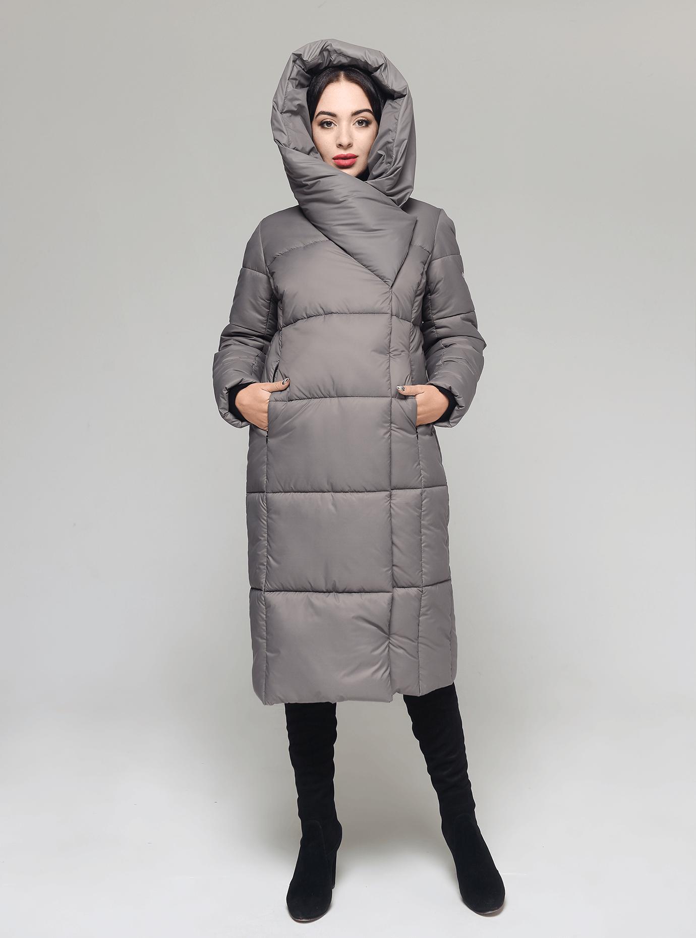 Куртка женская зимняя широкий воротник Бежевый 42 (02-KT190355): фото - Alster.ua