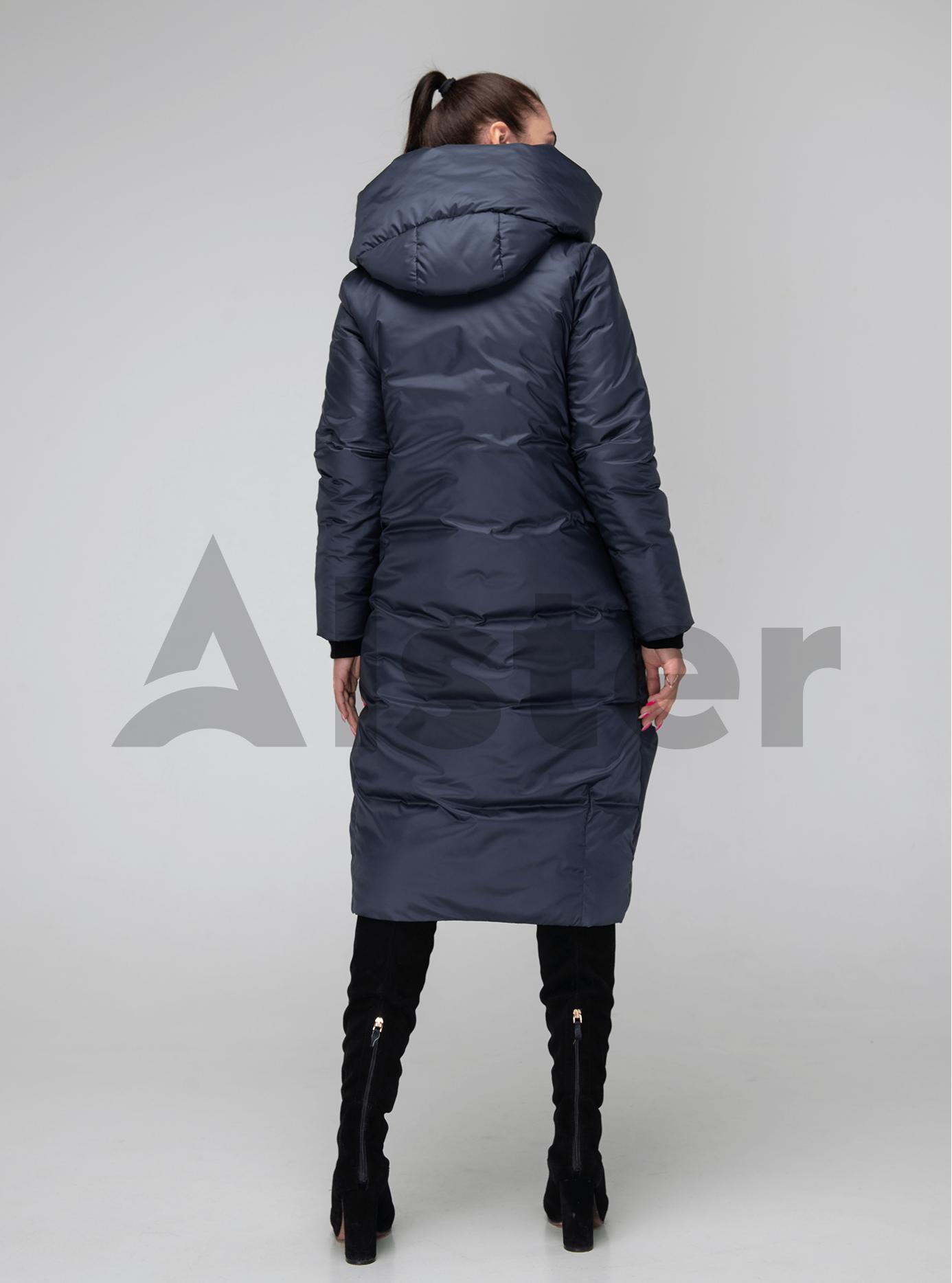 Женская куртка зимняя капюшон с отворотом Графитовый 42 (02-KT190202): фото - Alster.ua