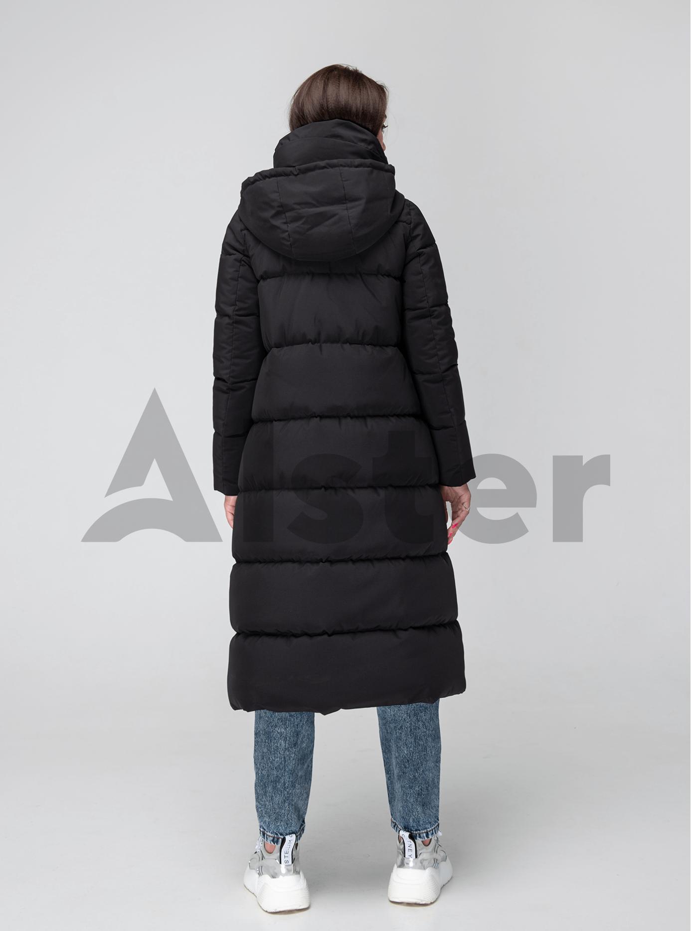 Женская куртка зимняя высокий воротник Чёрный 42 (02-KT190322): фото - Alster.ua