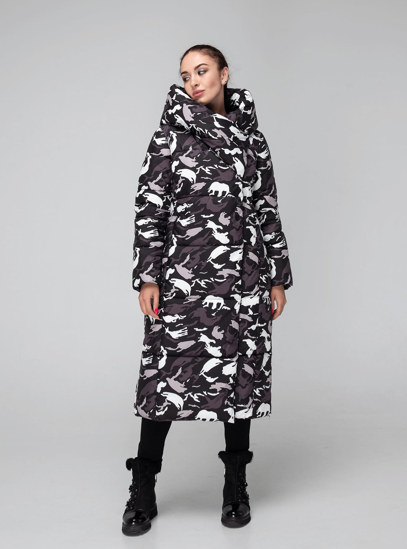 Женская зимняя куртка длинная Синий 42 (02-KT190546): фото - Alster.ua