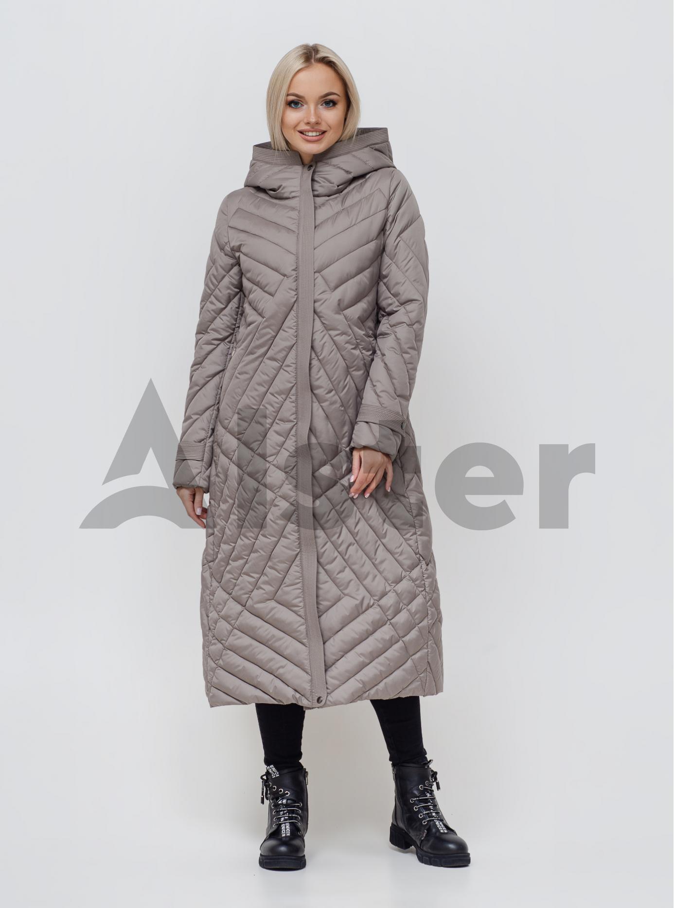 Пальто жіноче зимове Світло-сірий 44 (02-KL201005): фото - Alster.ua