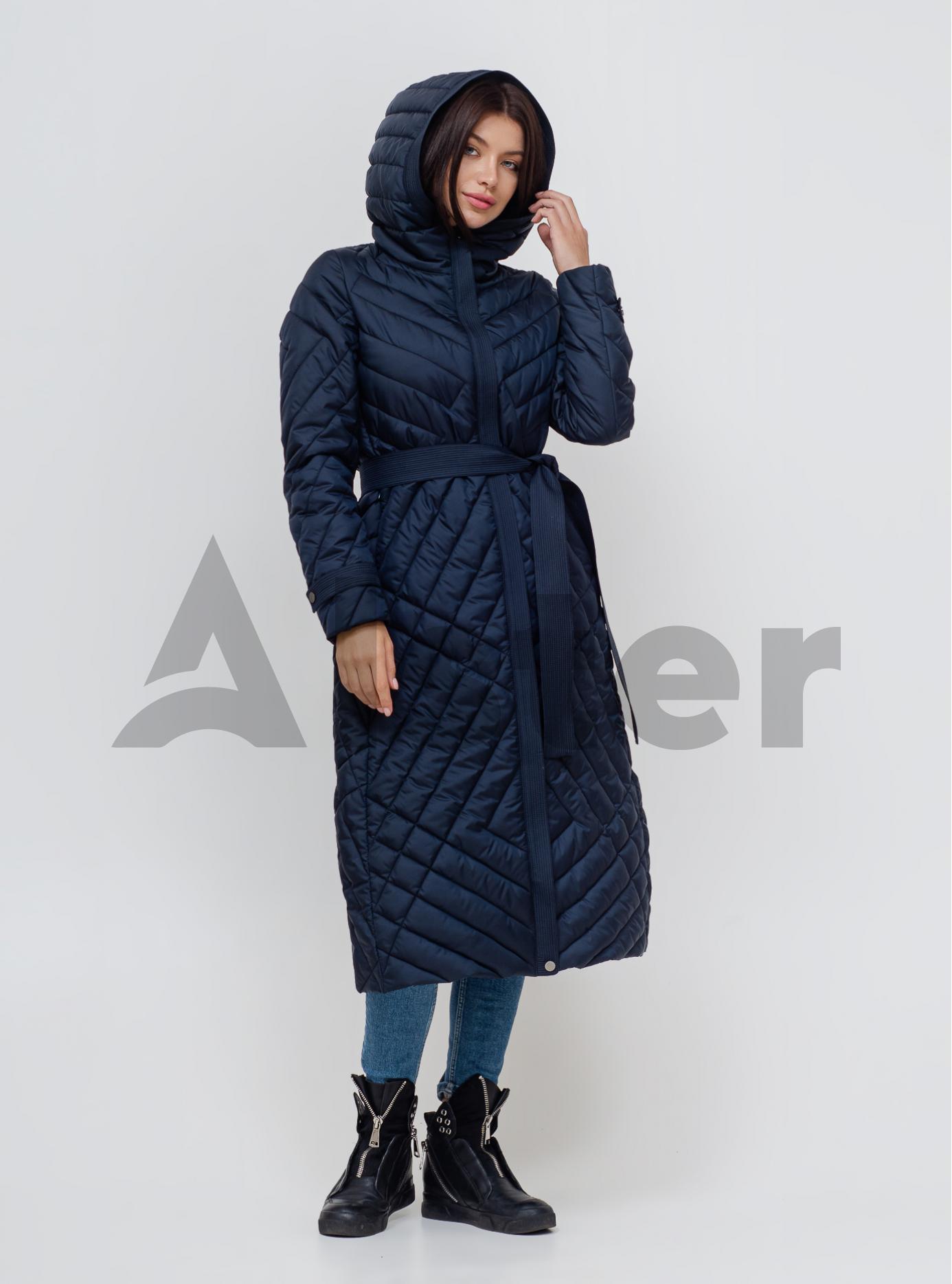 Пальто жіноче єврозима Темно-синій 46 (02-KL201011): фото - Alster.ua