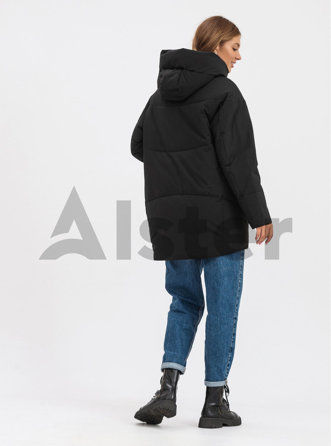 Жіноча зимова куртка середньої довжини OLANMEAR Чорний-матовий 2XL (OLN21899-15): фото - Alster.ua