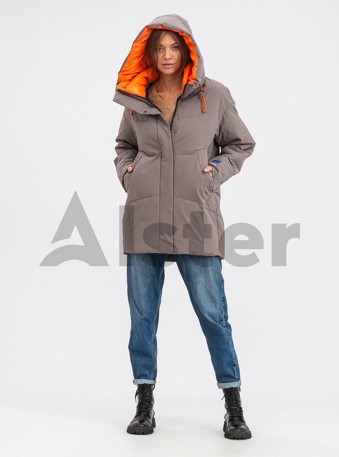 Жіноча зимова куртка середньої довжини OLANMEAR Сірий M (OLN21899-07): фото - Alster.ua