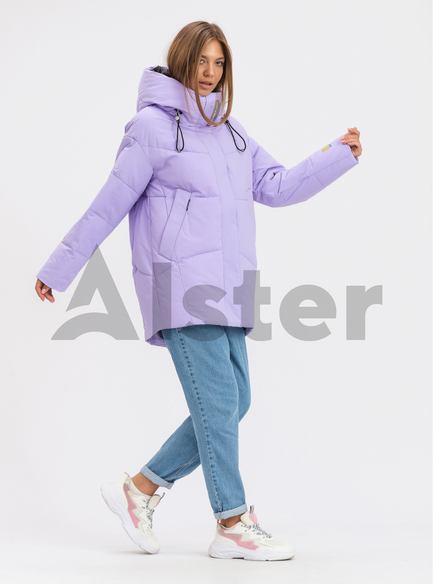 Жіноча зимова куртка середньої довжини OLANMEAR Лаванда L (OLN21899-03): фото - Alster.ua