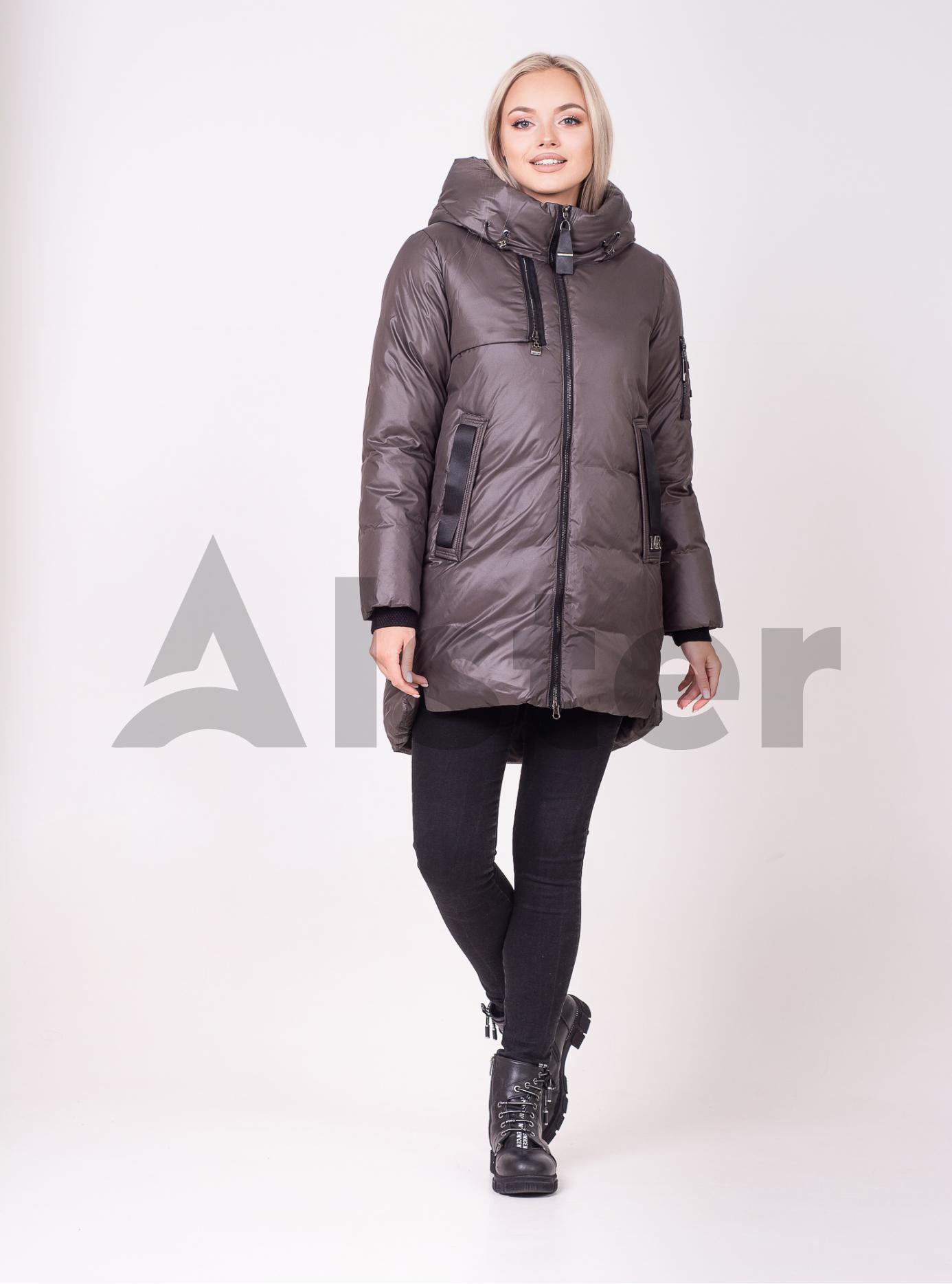 Жіноча зимова куртка Графітовий 2XL (01-210118): фото - Alster.ua