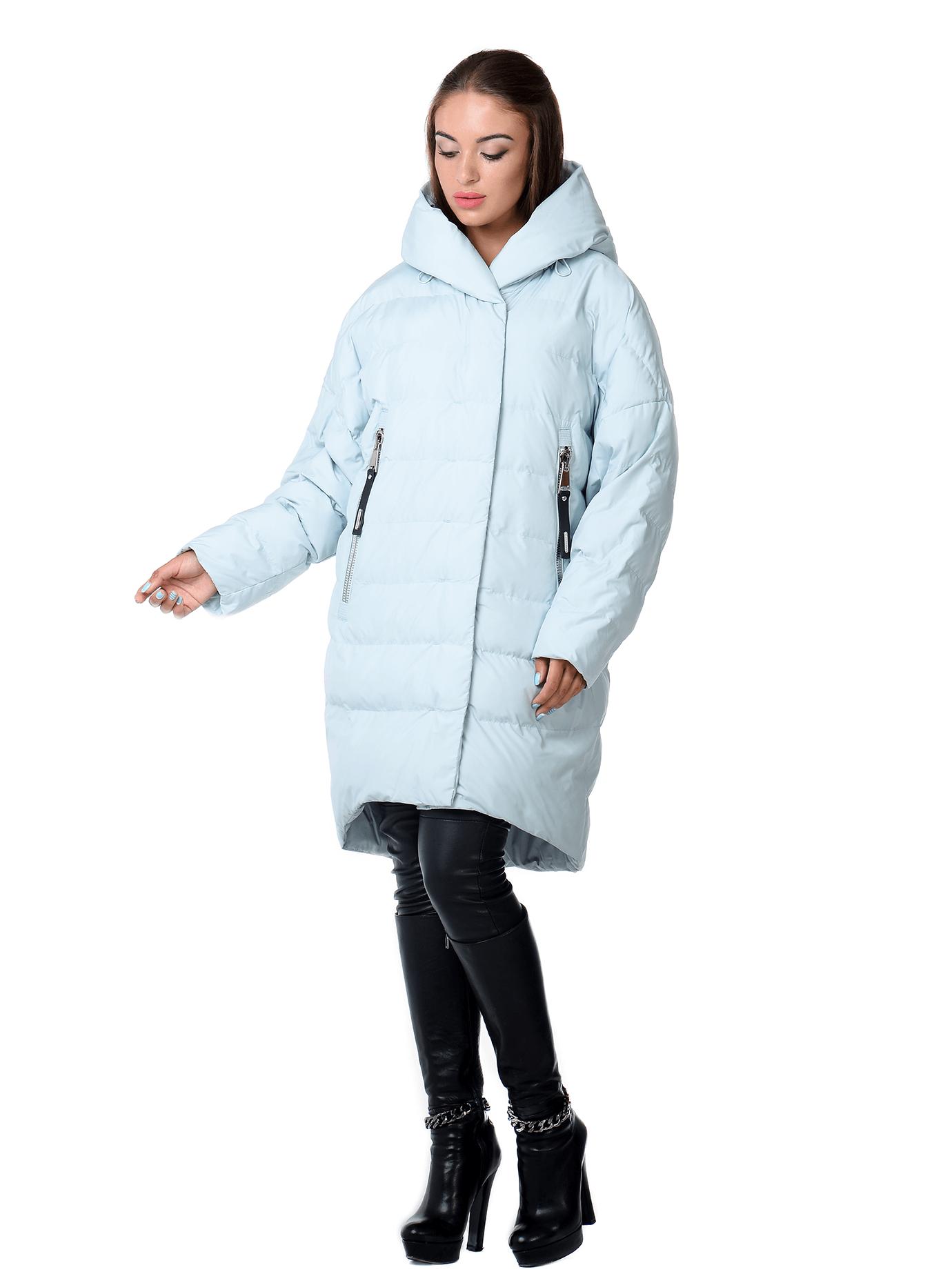 Куртка зимняя оверсайз Голубой S (02-SO19038): фото - Alster.ua