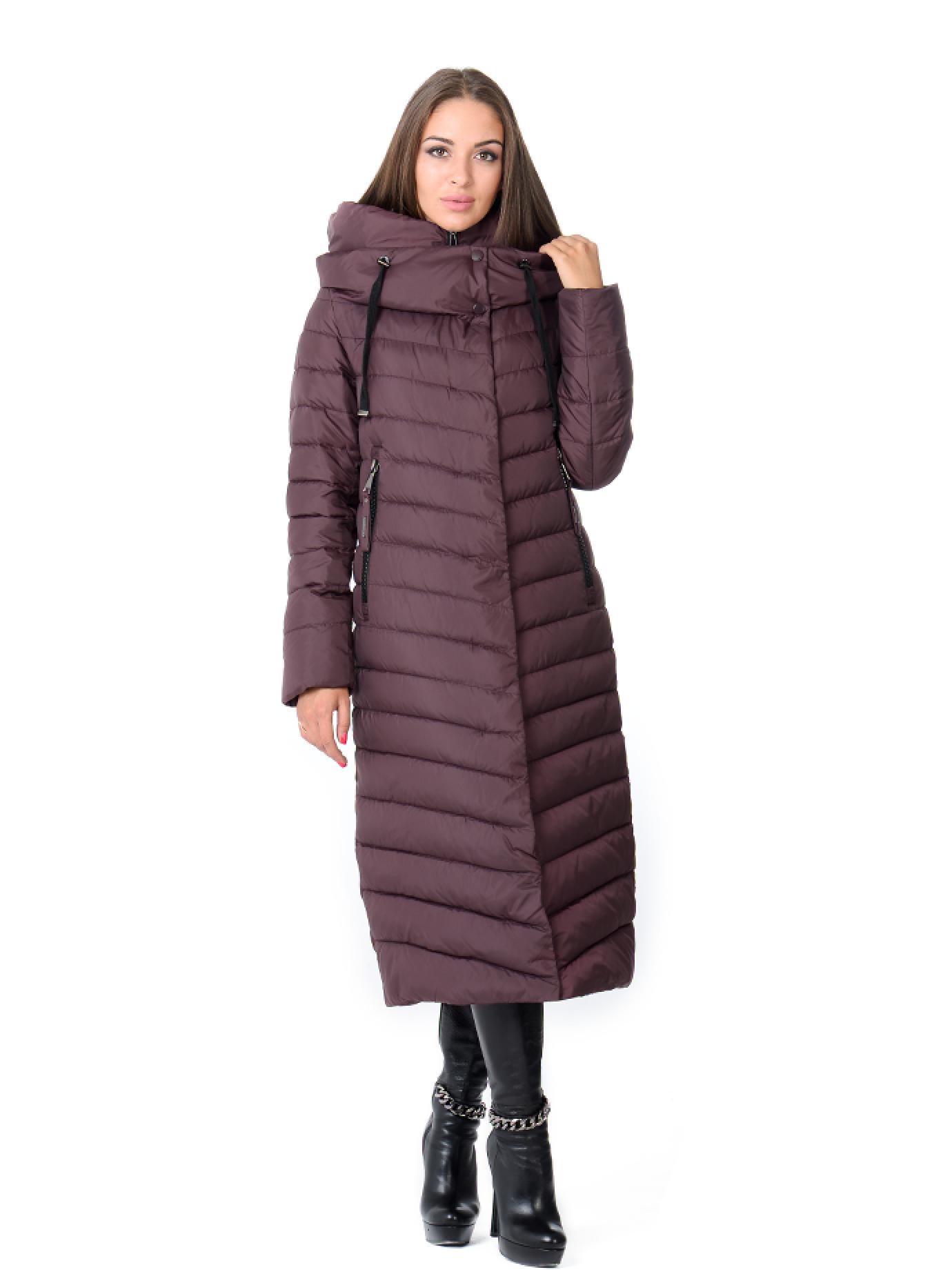 Куртка зимняя женская длинная Бордовый S (02-SO19045): фото - Alster.ua